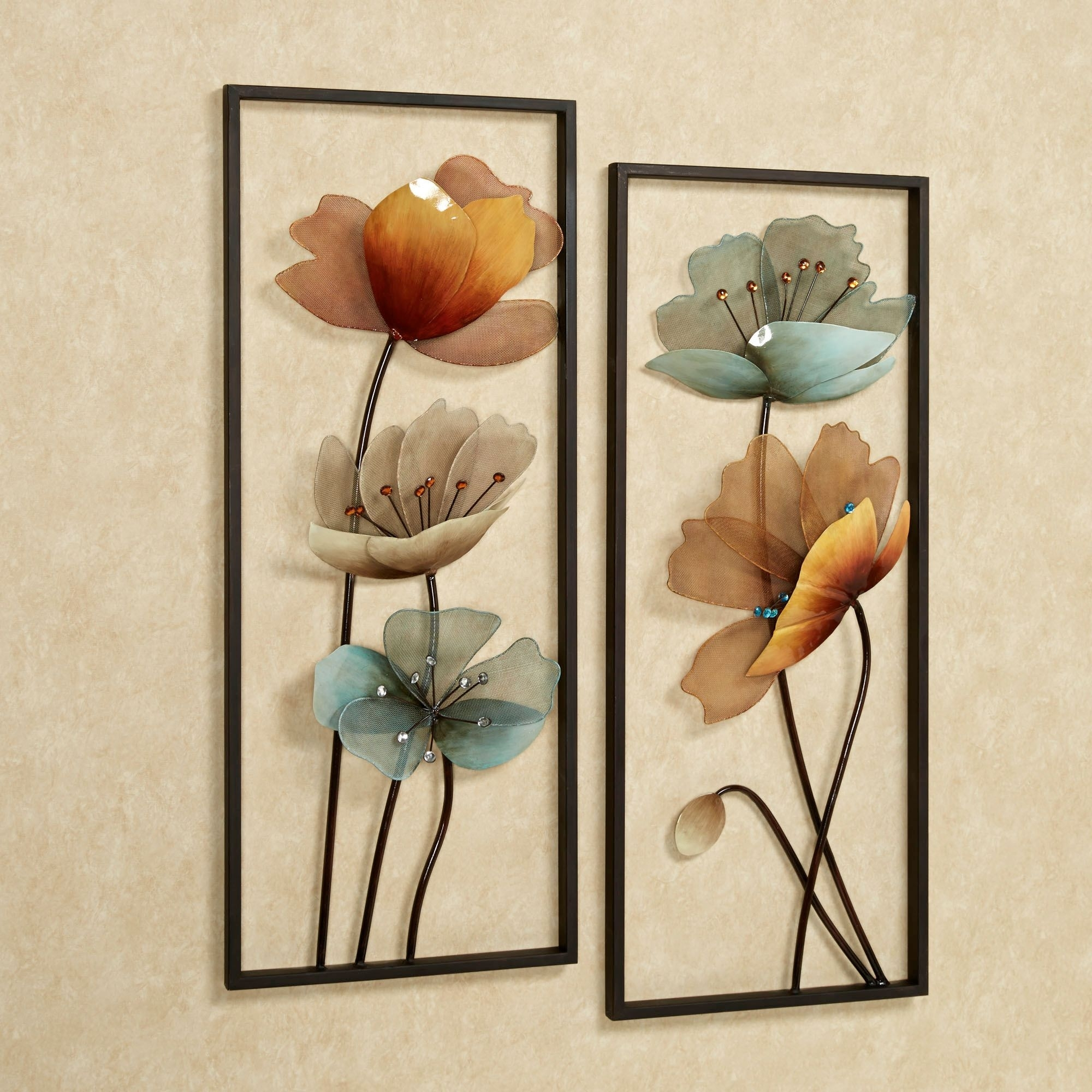 Tuscany In Bloom Floral Metal Wall Art Set | Wall Decor | Pinterest For Metal Flower Wall Art (View 15 of 20)