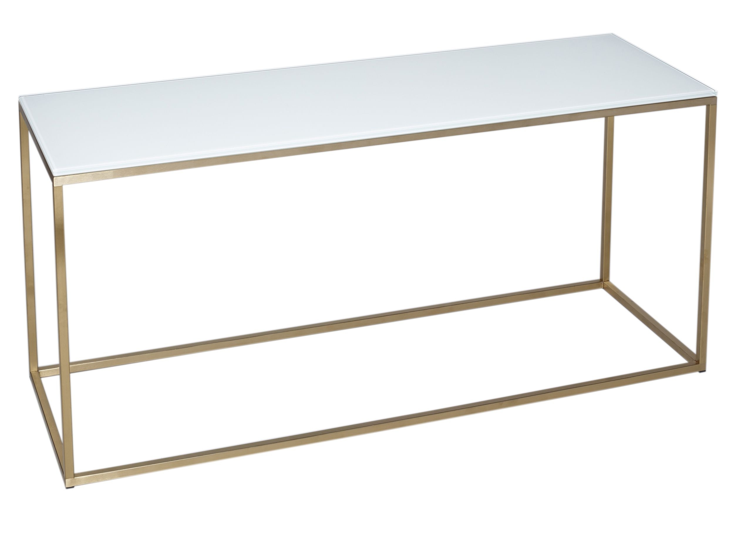Tv Stand - Kensal White With Brass Base | Collection From Gillmore intended for Rectangular Brass Finish and Glass Coffee Tables (Image 27 of 30)