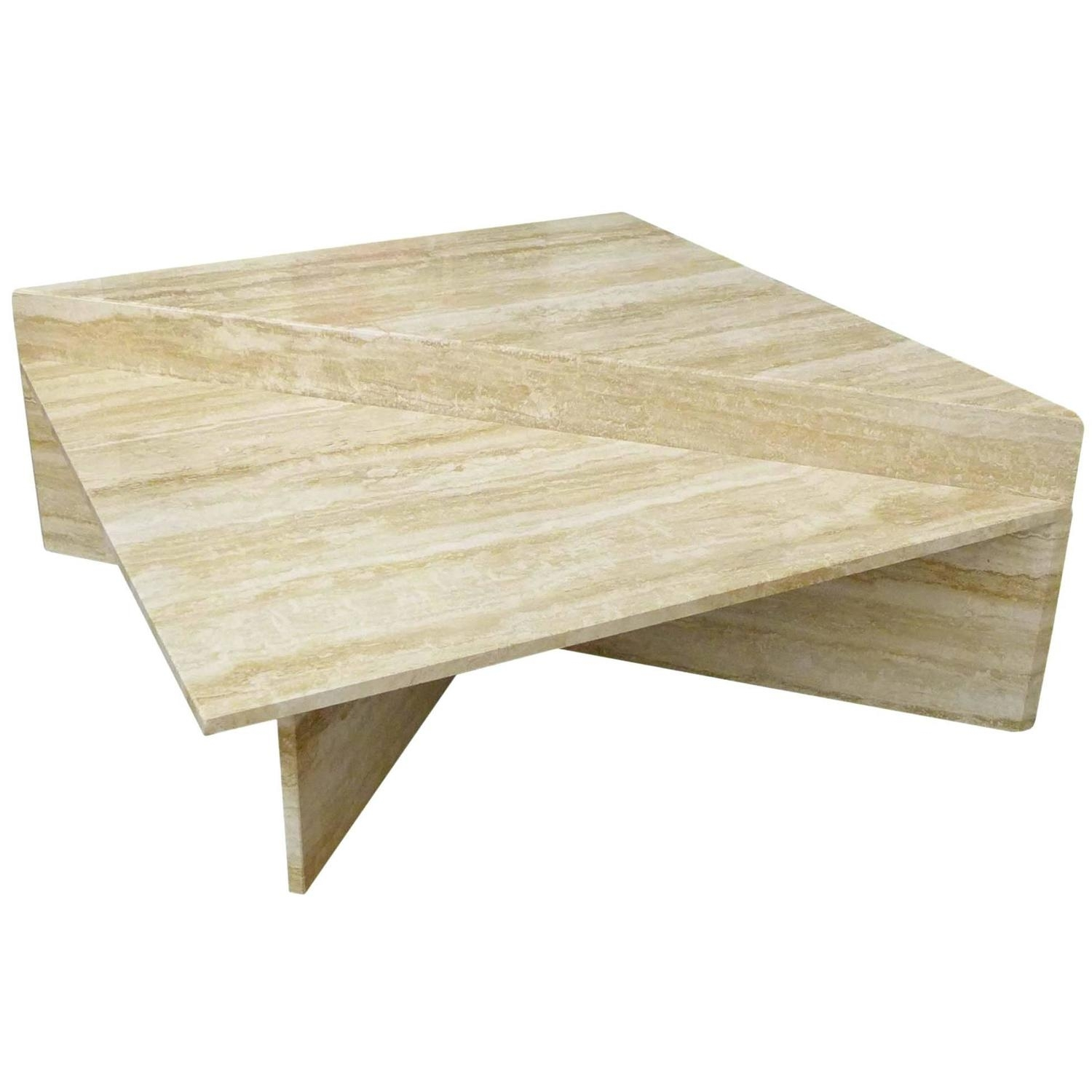 Two-Piece Modular Travertine Coffee Table At 1Stdibs with regard to Modular Coffee Tables (Image 29 of 30)