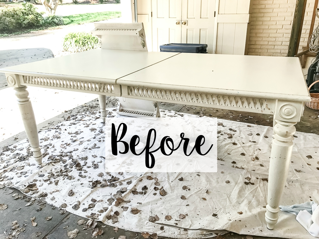 Two Tone Dining Table Makeover - Bless'er House with regard to 2 Tone Grey And White Marble Coffee Tables (Image 27 of 30)