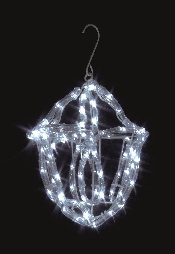 Uk-Gardens Christmas Twinkling White Rope Light Lantern Indoor Or regarding Outdoor Xmas Lanterns (Image 18 of 20)