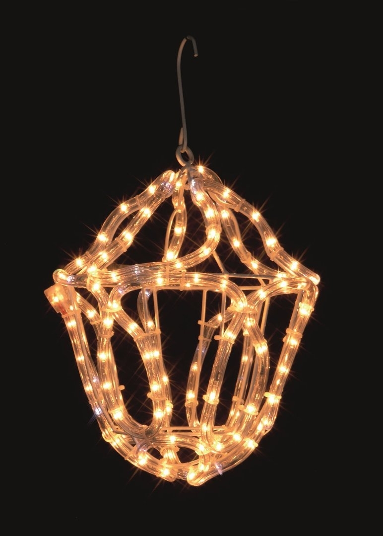 Uk-Gardens Christmas Warm White Rope Light Lantern Indoor Or Outdoor throughout Outdoor Rope Lanterns (Image 19 of 20)