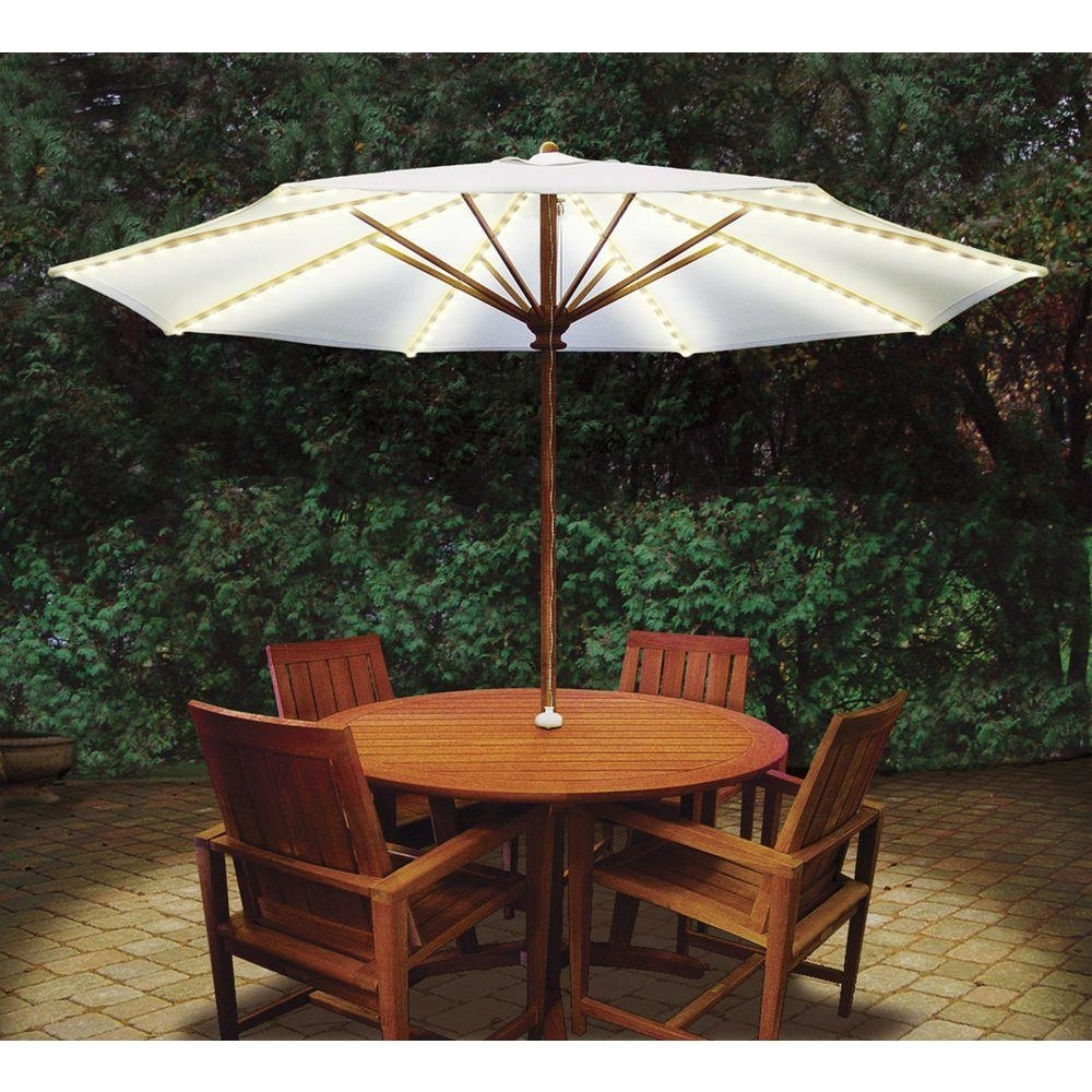 Umbrella Lights – Outdoor Lighting – Lighting – The Home Depot For Outdoor Lawn Lanterns (View 20 of 20)