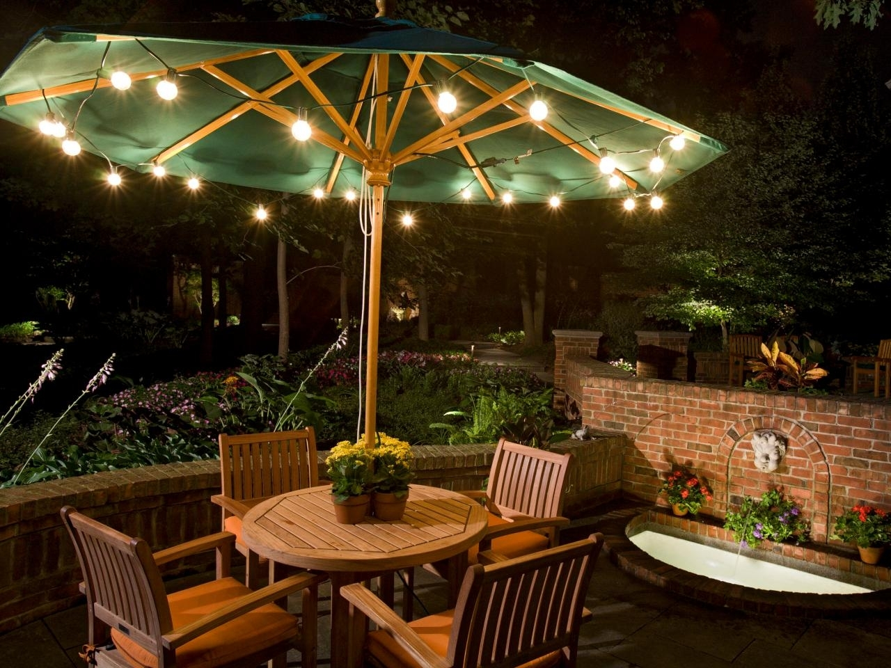 Umbrella Outdoor Landscape Lighting : Latest Trend In Outdoor Within Outdoor Umbrella Lanterns (View 18 of 20)
