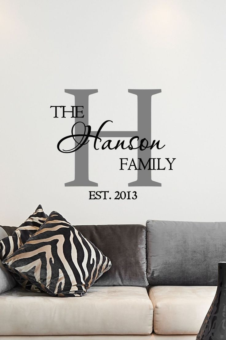 Unique Last Name Wall Decor Design Ideas Of Family Wall Art Stickers Inside Family Name Wall Art (View 11 of 20)