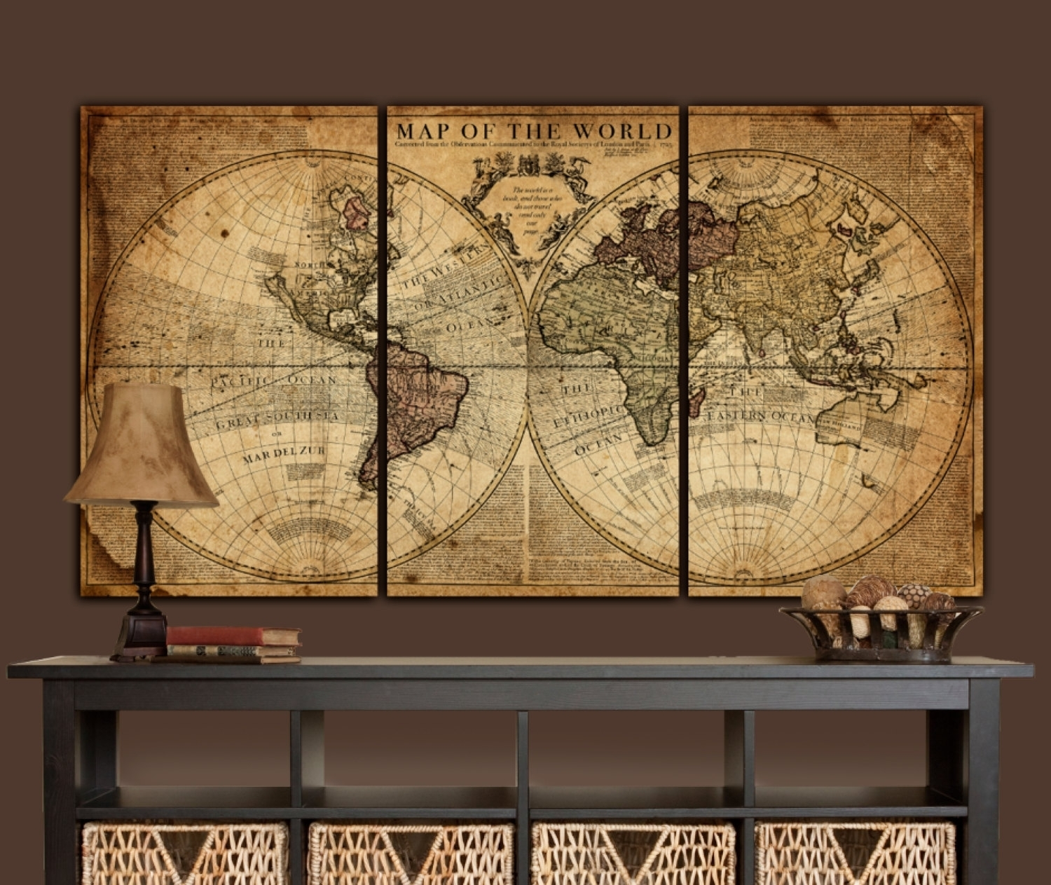 Unique Old World Wall Art Decor | Decorating Ideas 2018 pertaining to Old World Map Wall Art (Image 15 of 20)