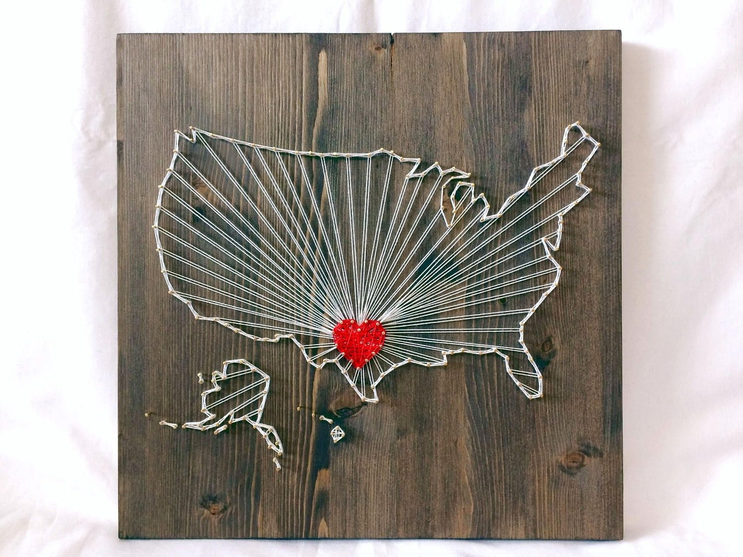 United States Map String Art Wall Art Decor Rays | United States Map With String Map Wall Art (View 15 of 20)