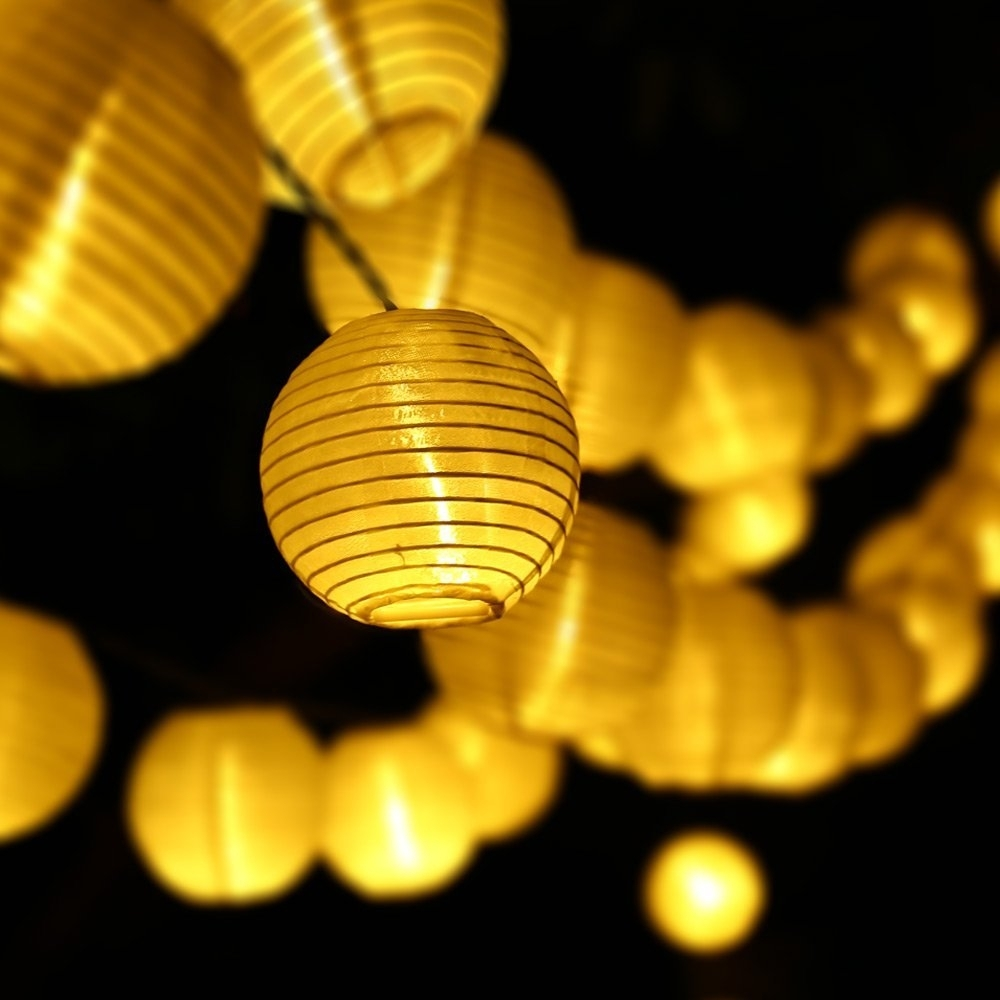 Updated 30Led 20Ft Solar Led Light Outdoor Lantern Ball String pertaining to Outdoor Lanterns On String (Image 19 of 20)