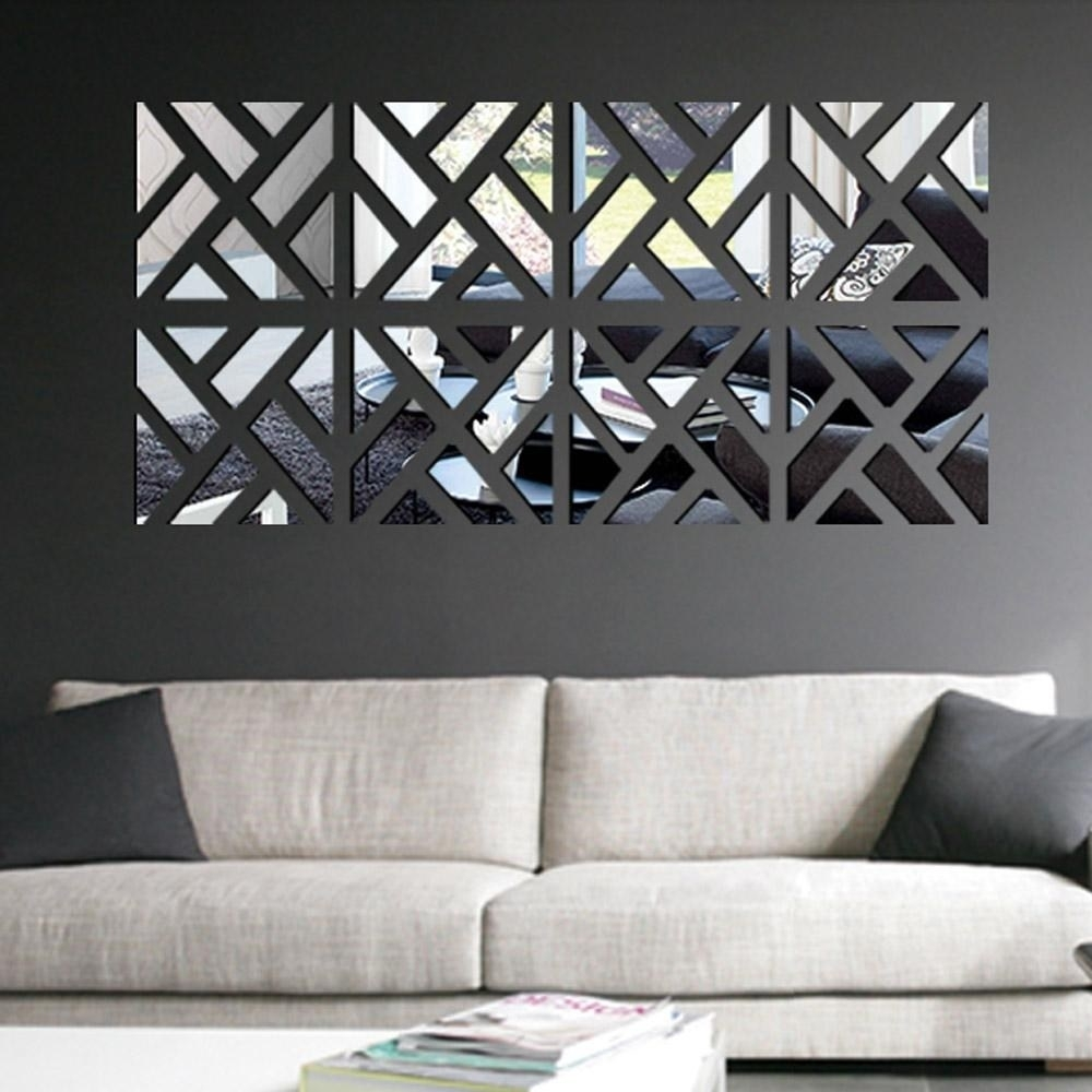 Upscale Barrel Wall Decor Vanity Mirror Target Mosaic Mirror Wall intended for Mirrored Wall Art (Image 16 of 20)