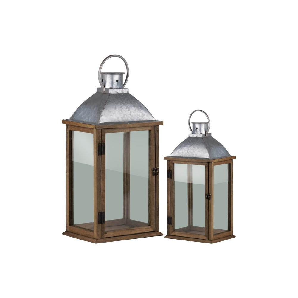 Urban Trends Collection Pewter Candle Lantern Decorative Lantern for Outdoor Decorative Lanterns (Image 20 of 20)