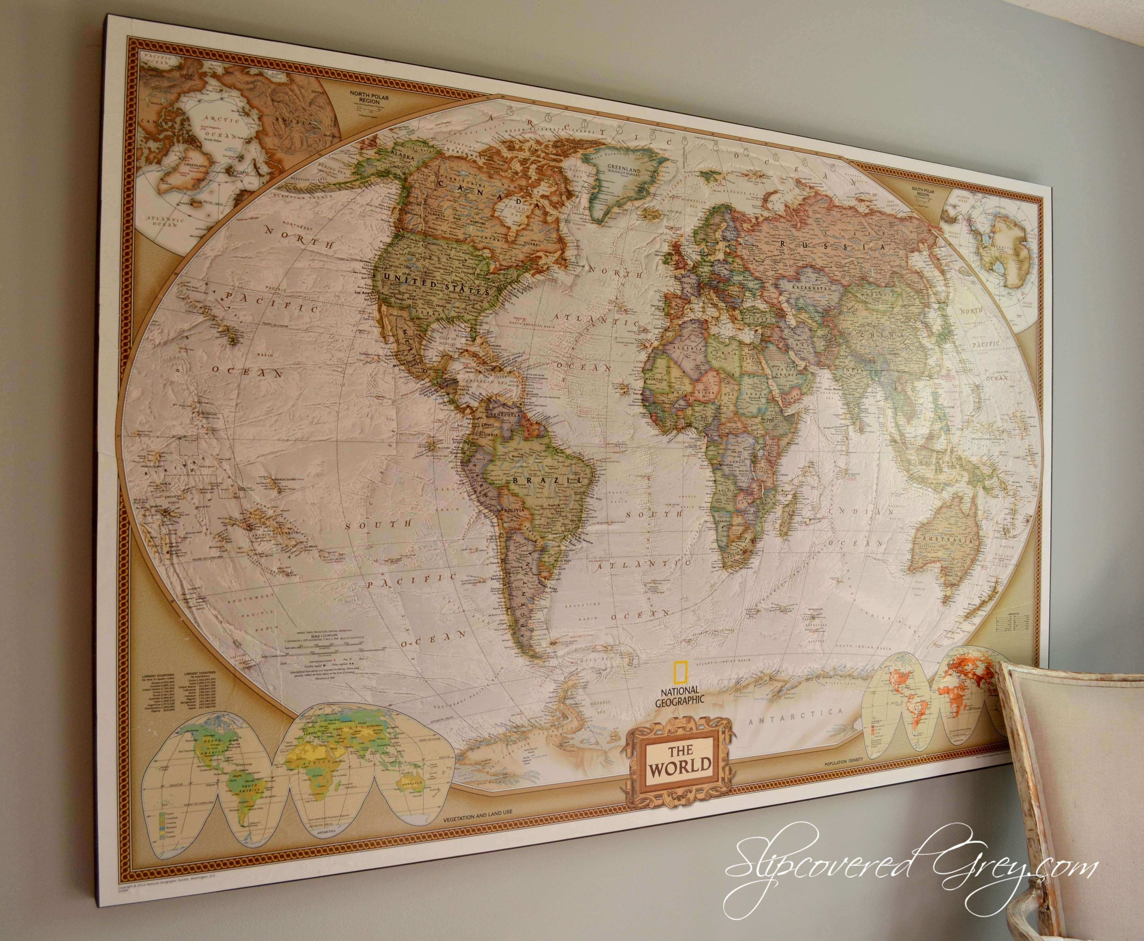 Us Map Wall Art New United States Wall Map Framed | Wall Art Ideas within Us Map Wall Art (Image 14 of 20)
