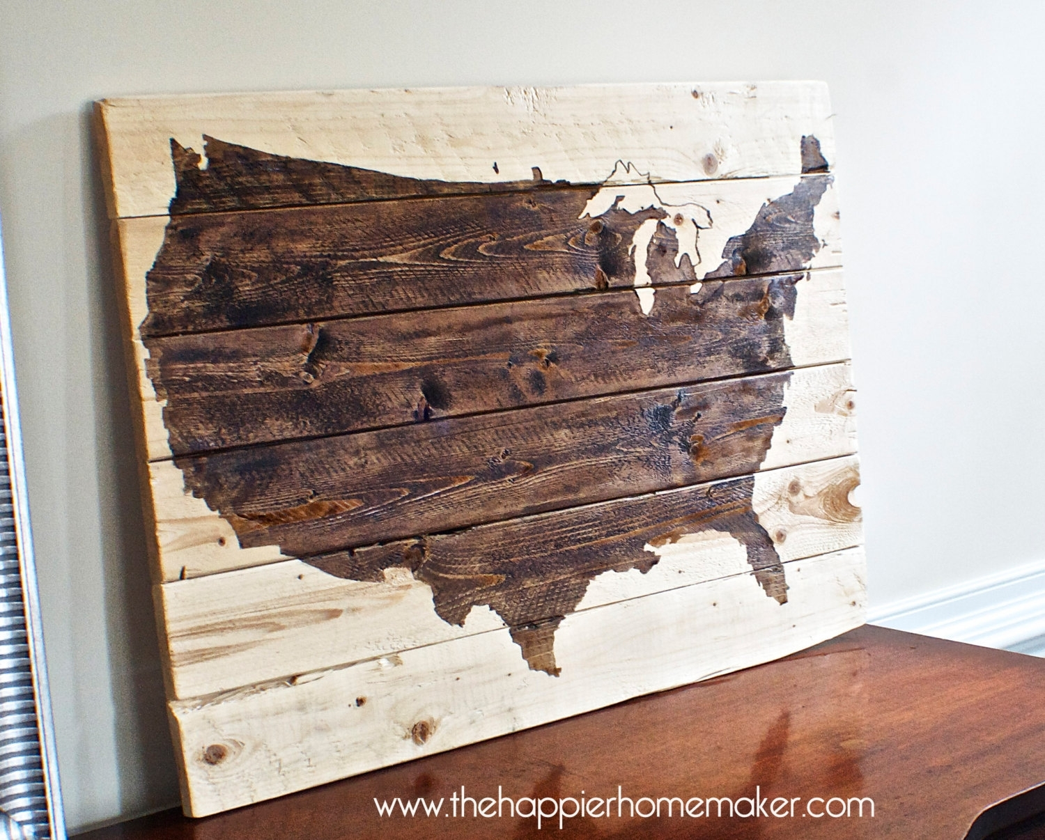 Us Map Wall Art V Sanctuary. Map Of Decor. Wooden Map Wall Decor inside United States Map Wall Art (Image 13 of 20)