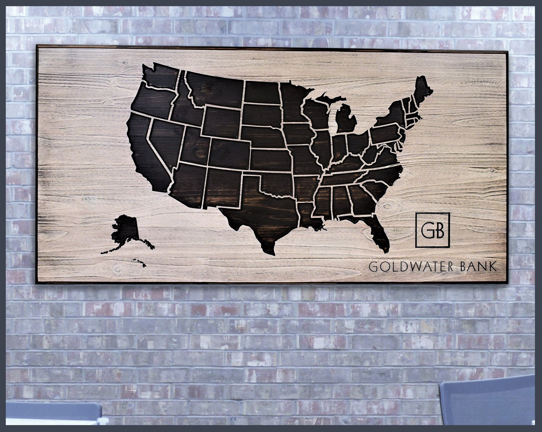 Usa Map On Canvas Inspirationa Metal United States Map Wall Art inside United States Map Wall Art (Image 16 of 20)