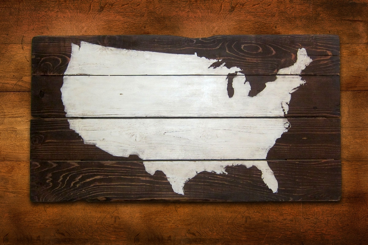 Usa Map Wall Art Awesome Design Collection For Your Best Decoration within Usa Map Wall Art (Image 15 of 20)