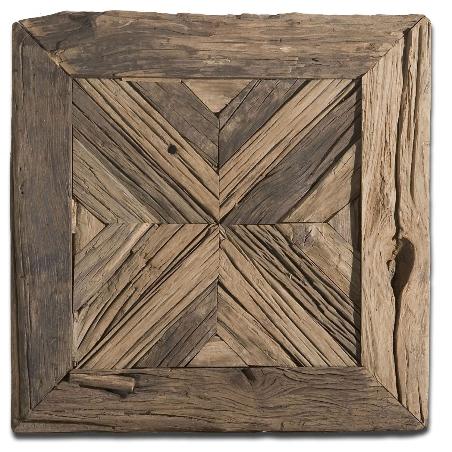 Uttermost Rennick Rustic Wood Wall Art 04014 | Bellacor Intended For Wood Medallion Wall Art (View 18 of 20)
