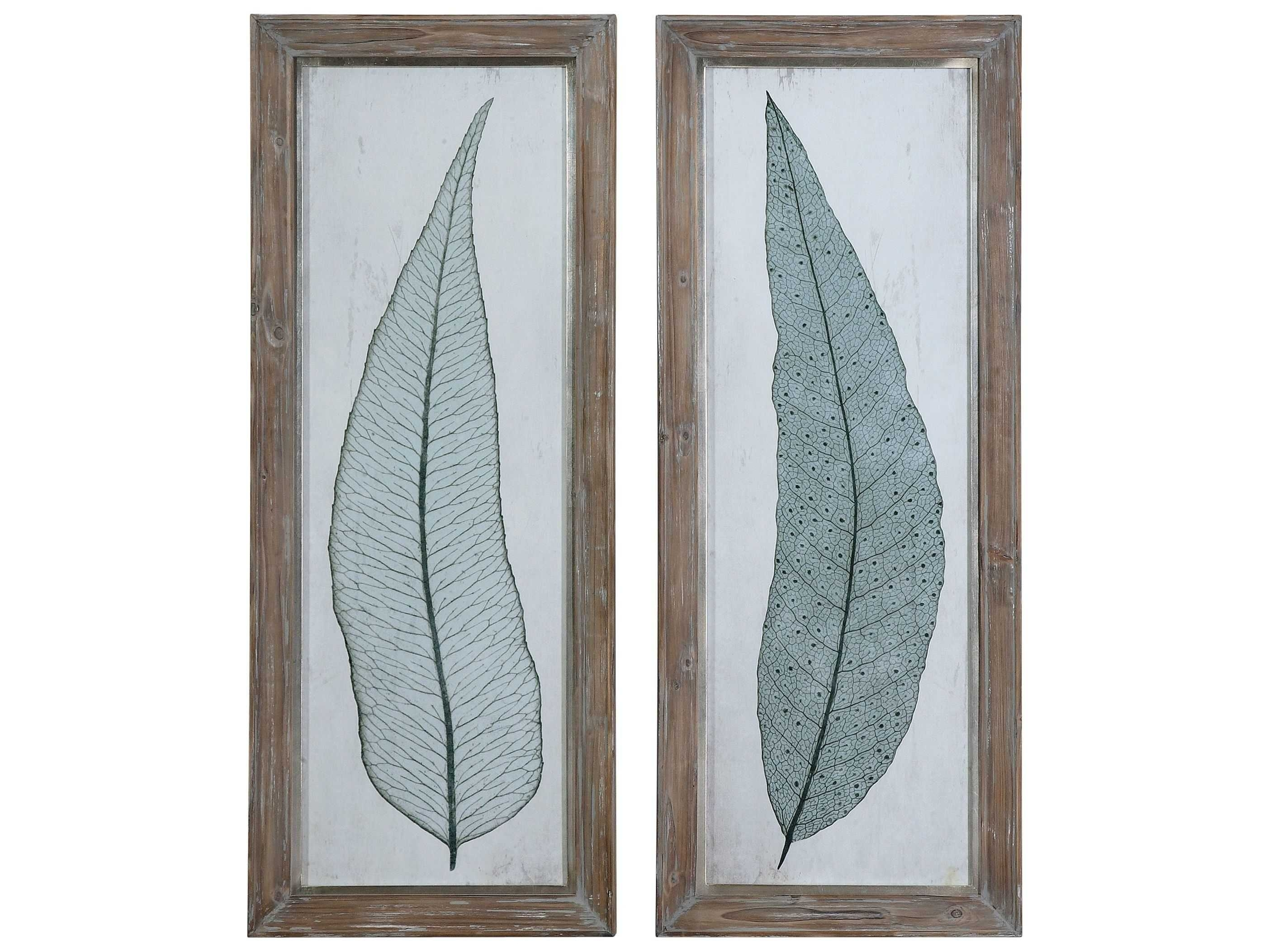 Uttermost Tall Leaves Framed Wall Art (2 Piece Set) | Ut41514 Intended For Set Of 2 Framed Wall Art (View 17 of 20)