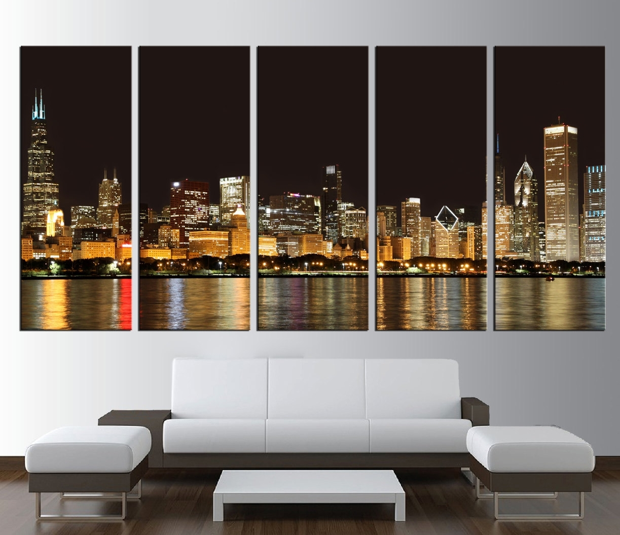 Valuable Inspiration Chicago Wall Art Modern Home Design Skyline pertaining to Chicago Map Wall Art (Image 20 of 20)