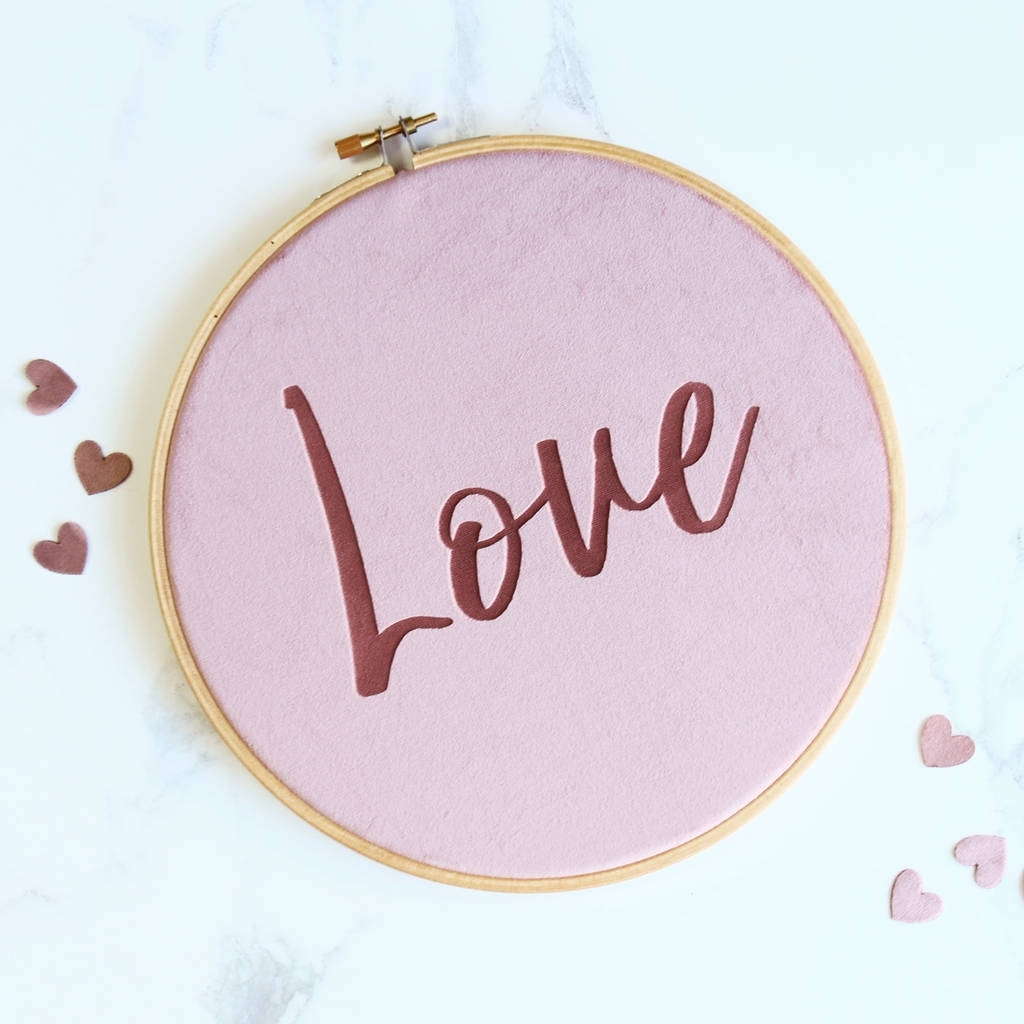 Velvet Love Wall Art Embroidery Hoopbetsy Benn In Love Wall Art (View 20 of 20)