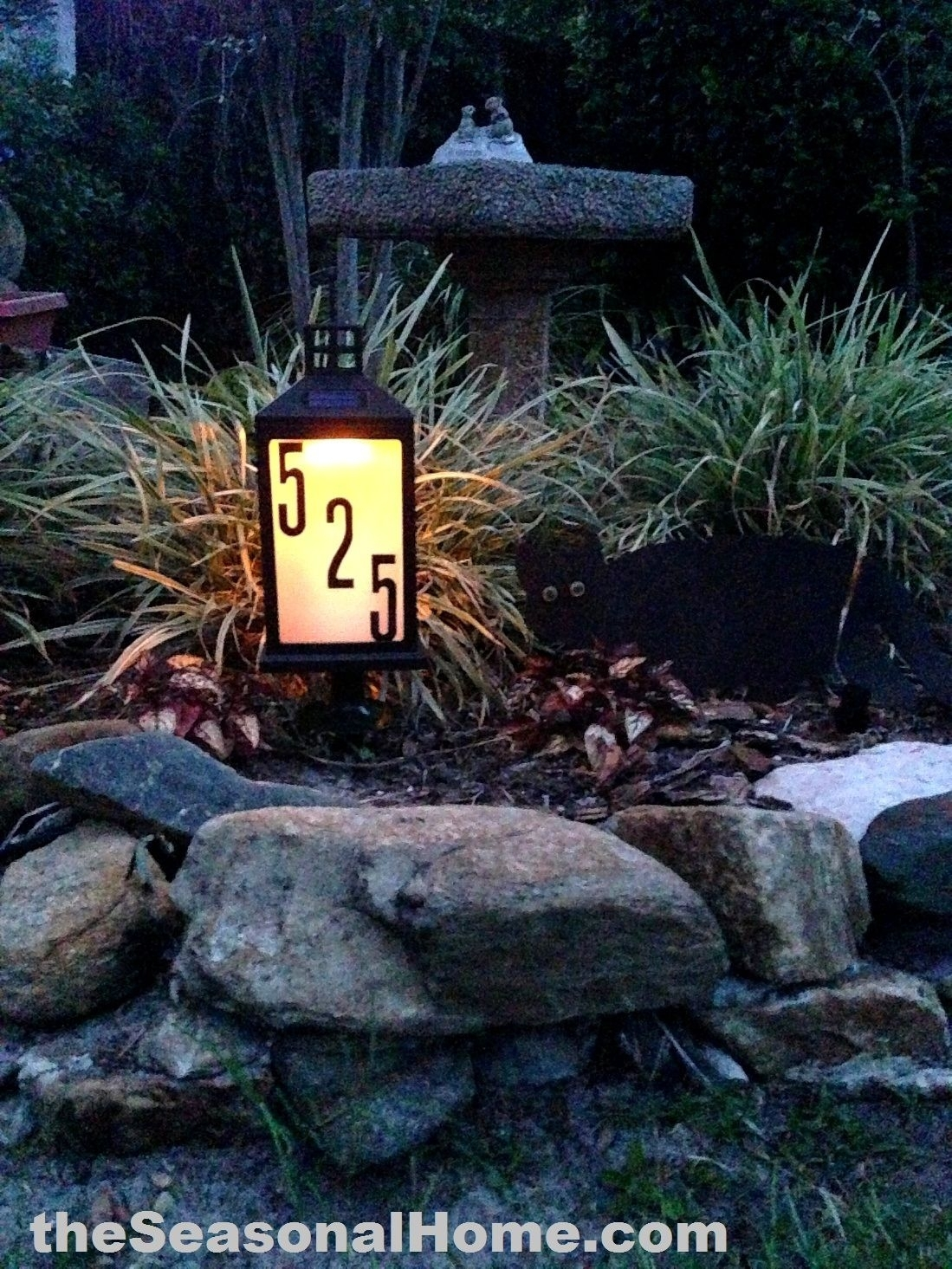 Very Cool, Homemade $8 Solar Address Lantern For Your Front Garden in Outdoor Driveway Lanterns (Image 20 of 20)