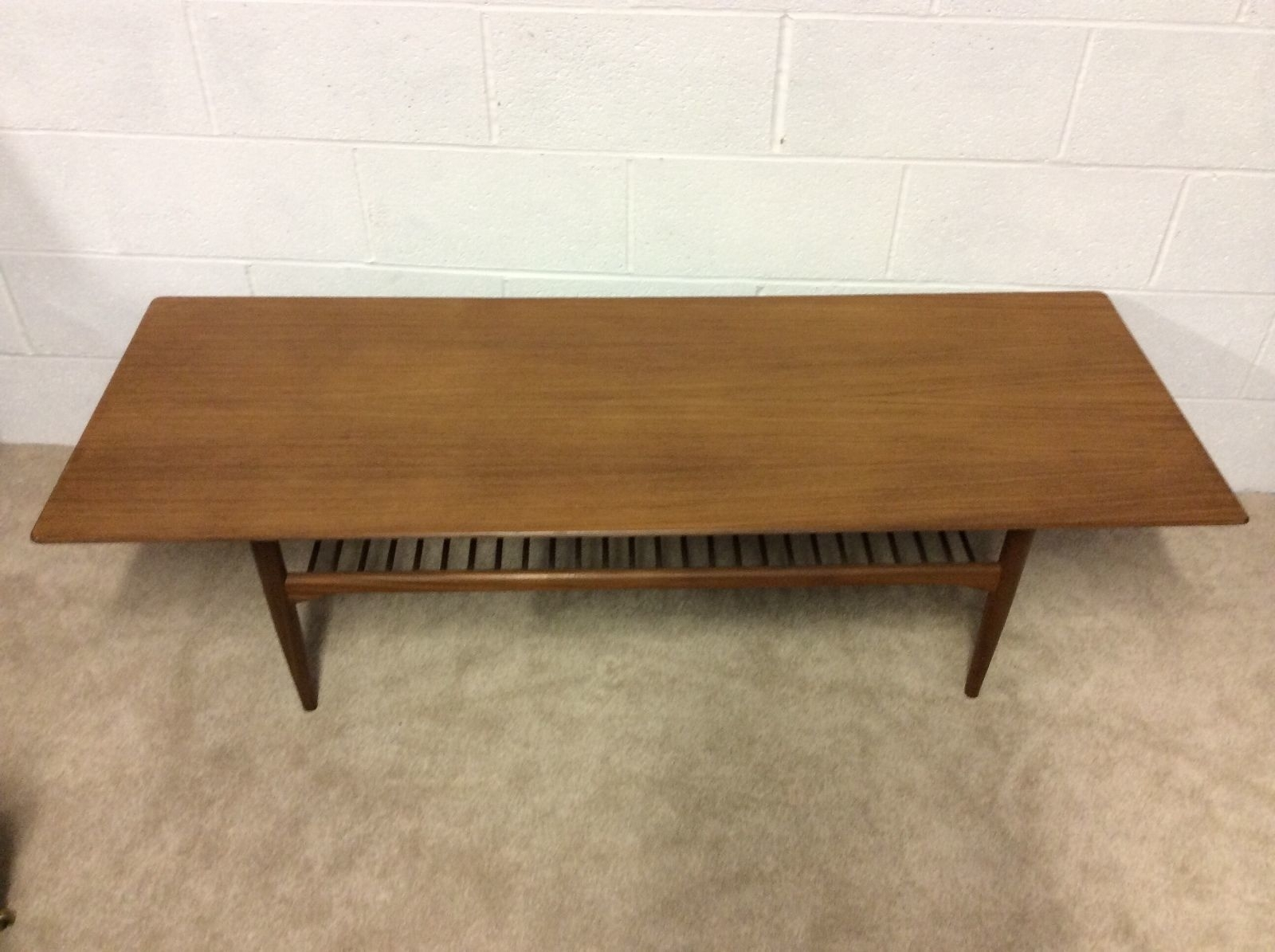 Very Large Vintage 1960S Retro Danish Teak Coffee Table & Magazine pertaining to Large Teak Coffee Tables (Image 27 of 30)