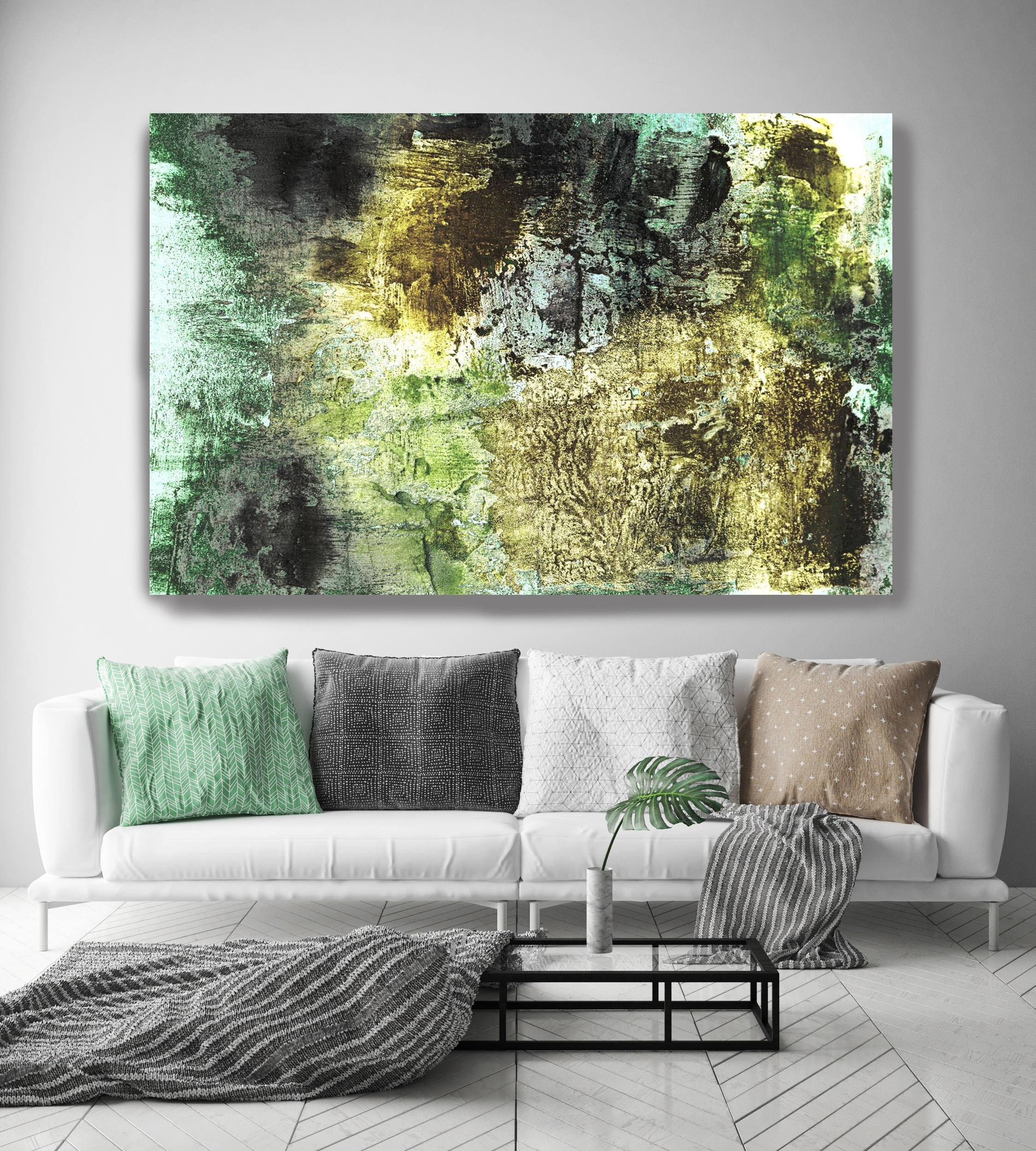 Vibrant Hues 31. Abstract Paintings Art, Abstract Green Gold Extra pertaining to Extra Large Wall Art (Image 20 of 20)