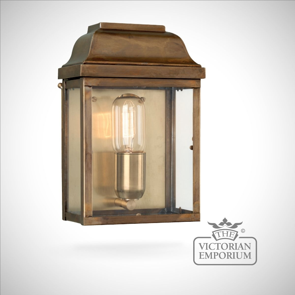 Victoria Wall Lantern - Antique Brass | Outdoor Wall Lights for Outdoor Wall Lanterns (Image 19 of 20)