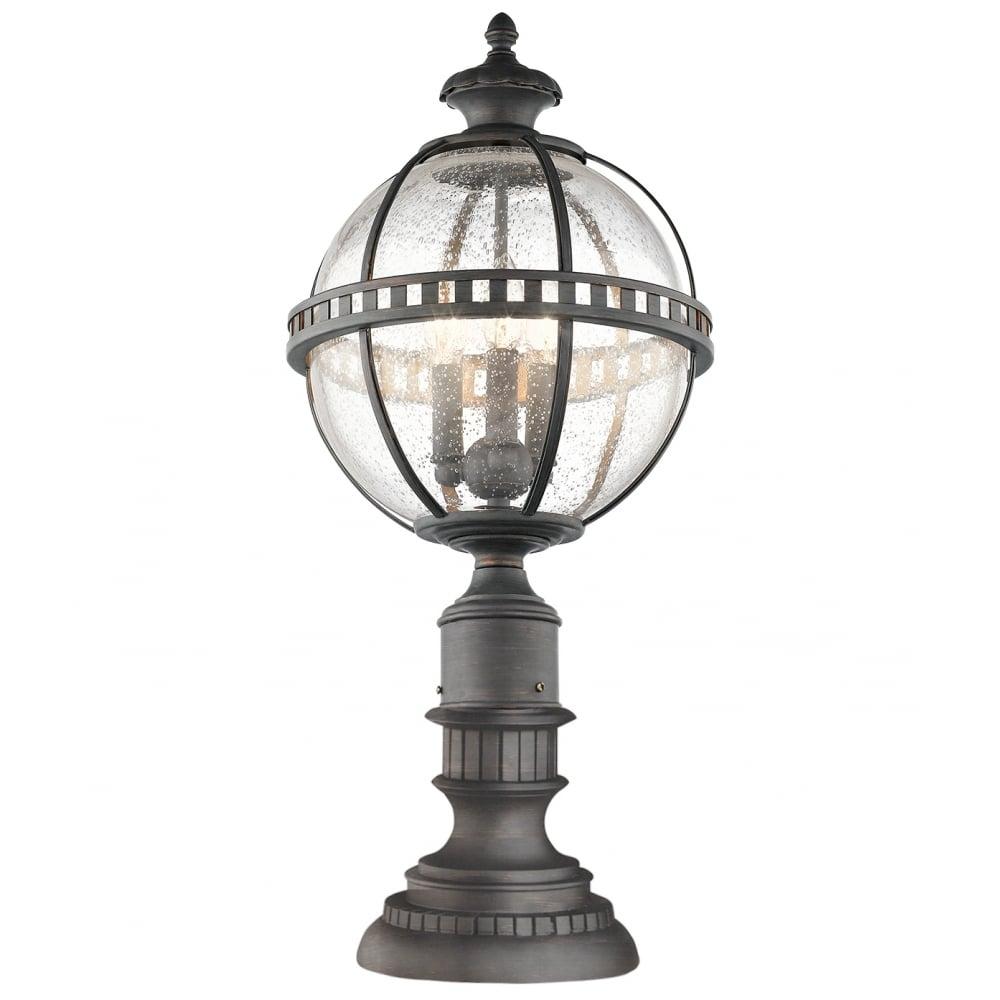 Victorian Globe Style Exterior Pedestal Lantern In Londonderry Finish Inside Victorian Outdoor Lanterns (View 14 of 20)