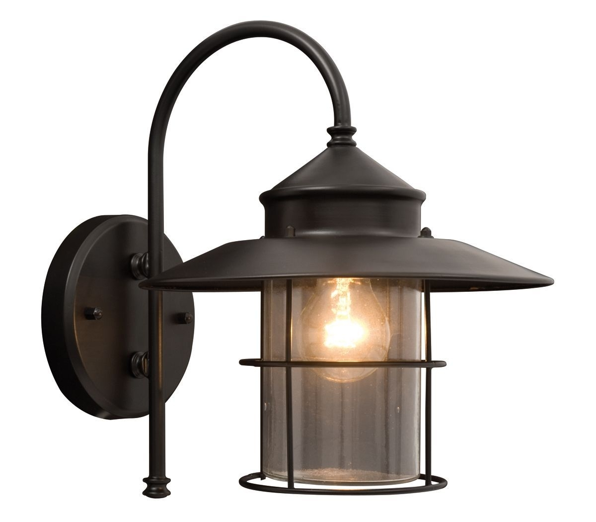Vincent Black Mains Powered External Wall Lantern | Gates, Driveway in Outdoor Mains Lanterns (Image 19 of 20)