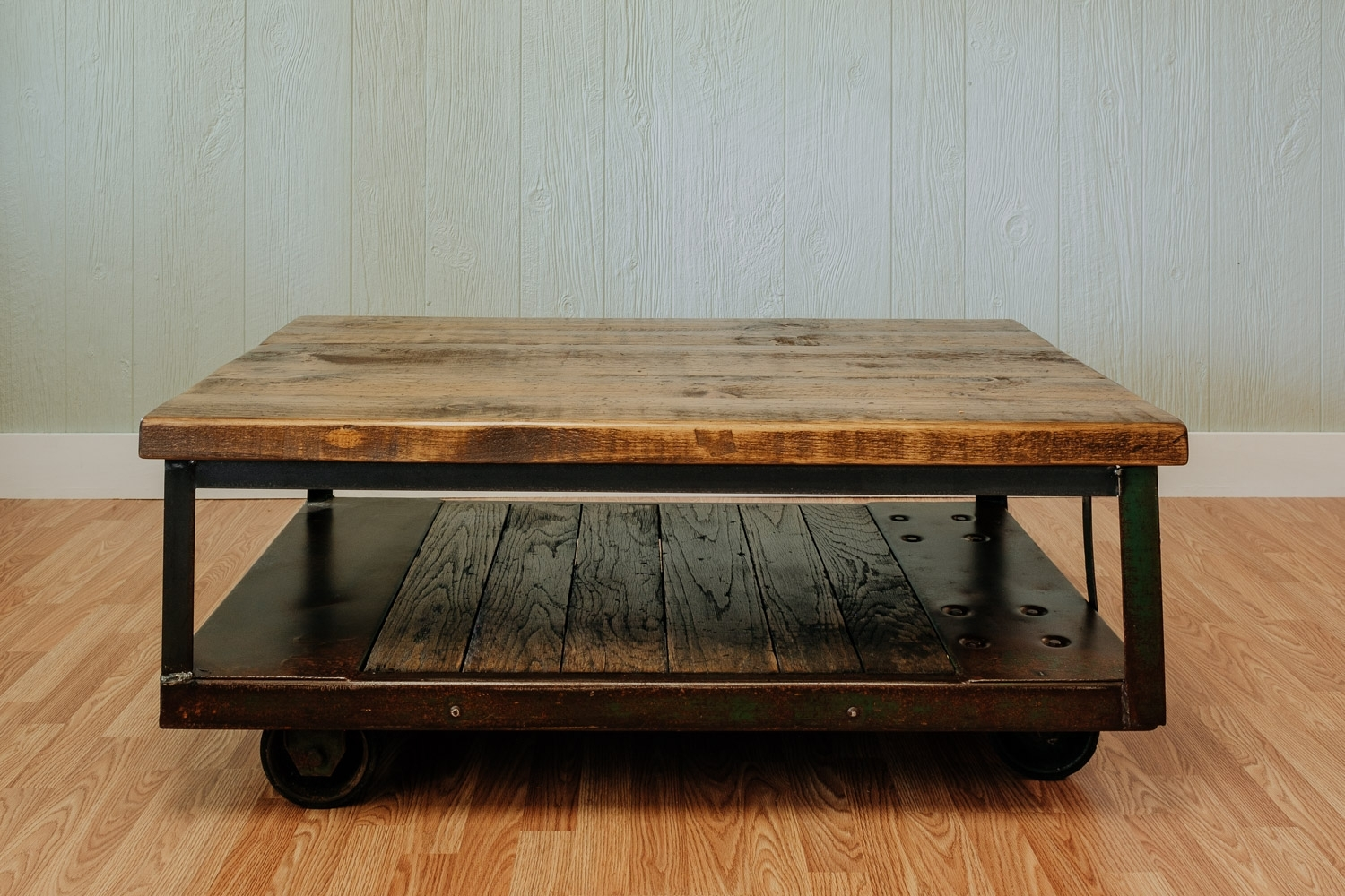 Vintage Factory Coffee Table | Napa East regarding Mill Coffee Tables (Image 28 of 30)
