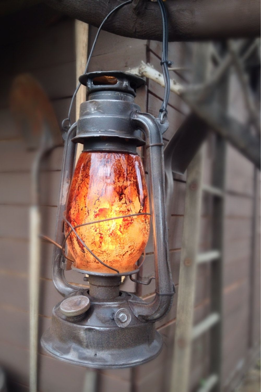 Vintage Looking Industrial/primitive Style Electric Railroad Inside Outdoor Railroad Lanterns (View 8 of 20)