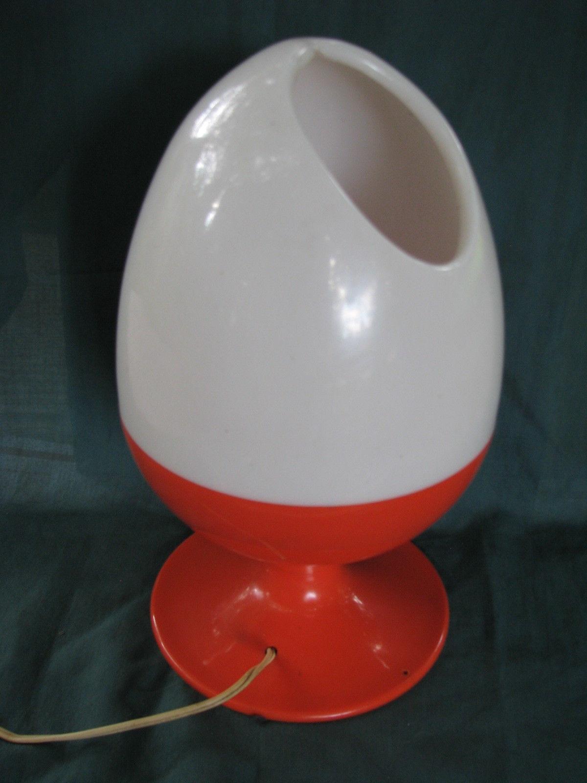 Vintage Mid-Century Modern Plastic Egg Table Lamp ,c.n Burman,orange pertaining to Mid-Century Modern Egg Tables (Image 25 of 30)