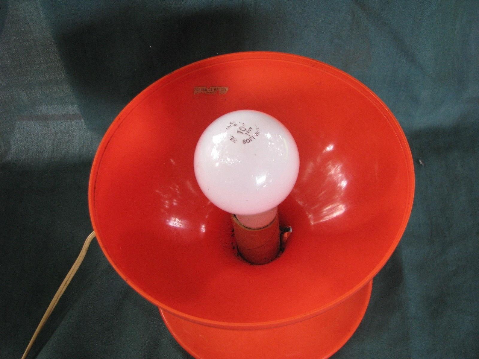 Vintage Mid-Century Modern Plastic Egg Table Lamp ,c.n Burman,orange with regard to Mid-Century Modern Egg Tables (Image 27 of 30)