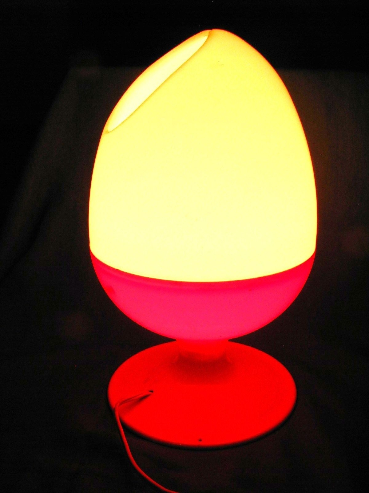 Vintage Mid-Century Modern Plastic Egg Table Lamp ,c.n Burman,orange with regard to Mid-Century Modern Egg Tables (Image 26 of 30)