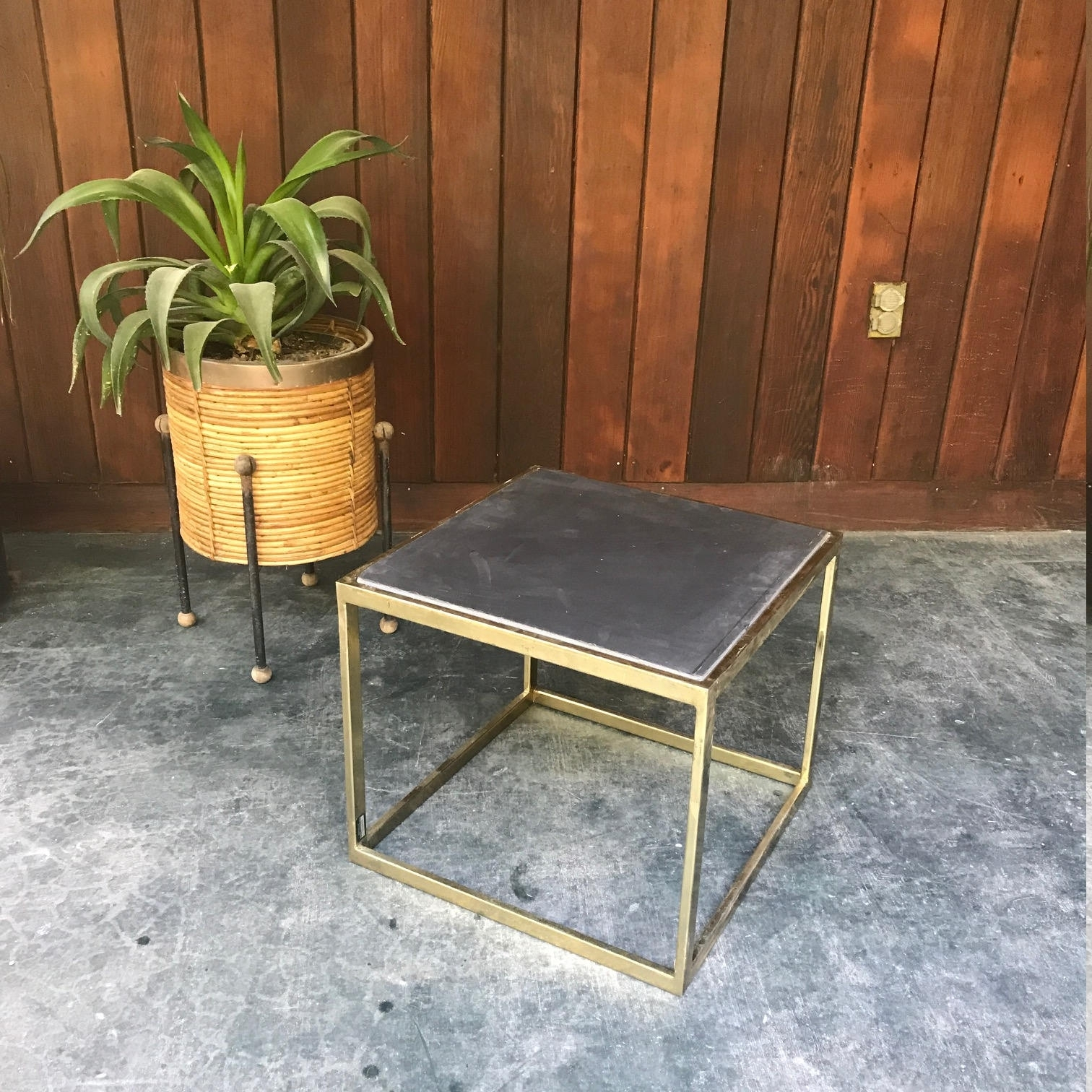 Vintage Mid-Century Seagrams Brass Cube Side Table pertaining to Brass Iron Cube Tables (Image 28 of 30)
