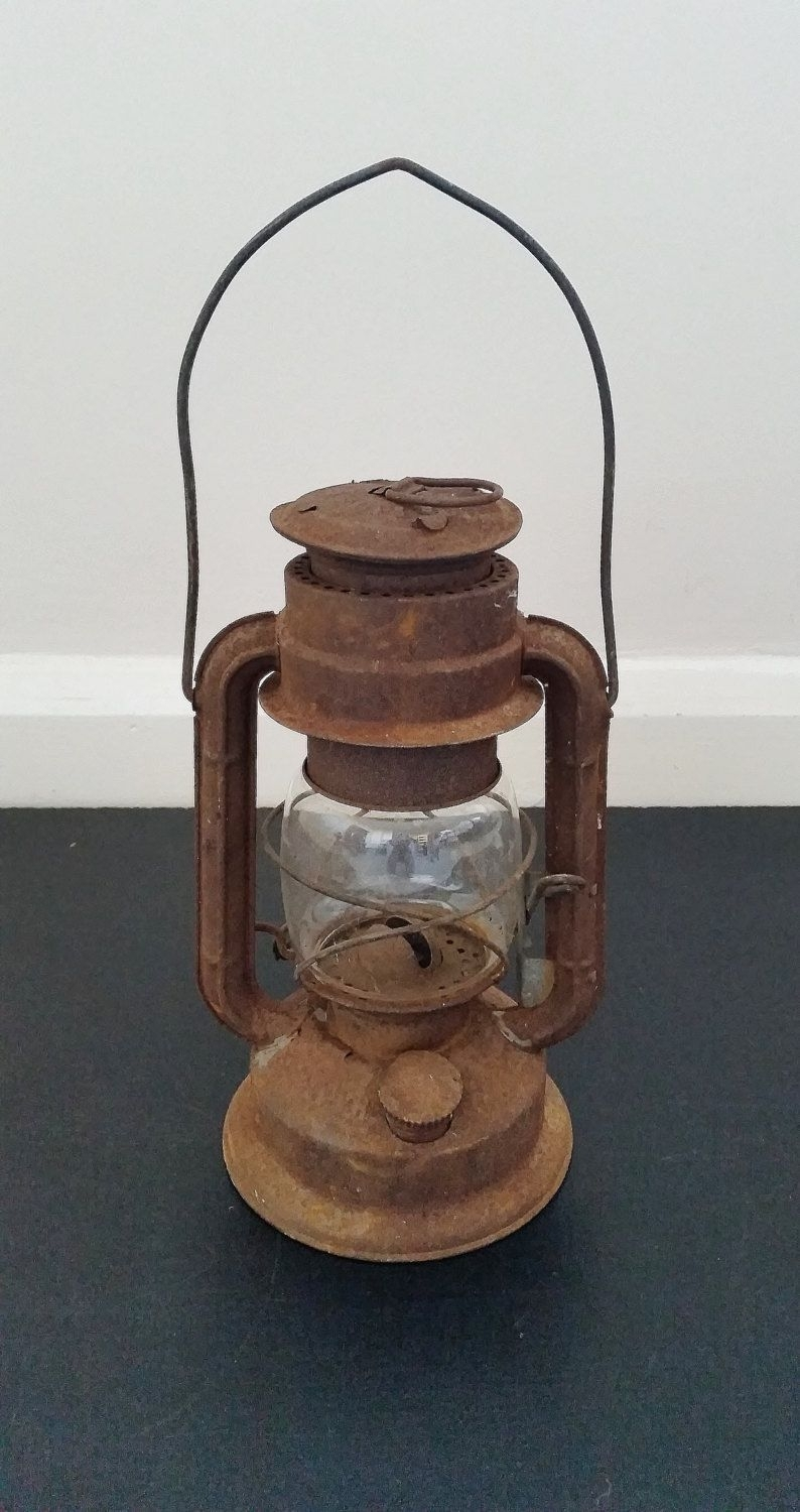 Vintage Oil Lantern, Hanging Lamp, Old Kerosene Light, Rustic With Regard To Outdoor Oil Lanterns For Patio (View 19 of 20)