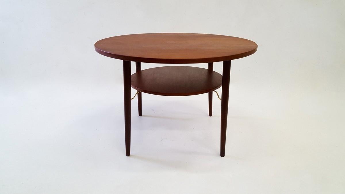 Vintage Scandinavian Design Round Teak Coffee Table In Teak - 1960S pertaining to Round Teak Coffee Tables (Image 30 of 30)