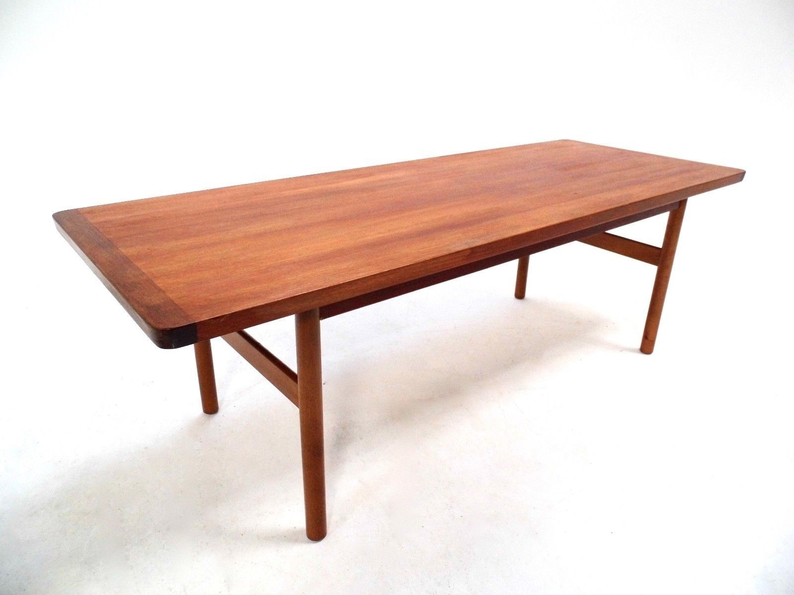 Vintage Scandinavian Large Teak Coffee Table Norwegian Midcentury in Large Teak Coffee Tables (Image 30 of 30)