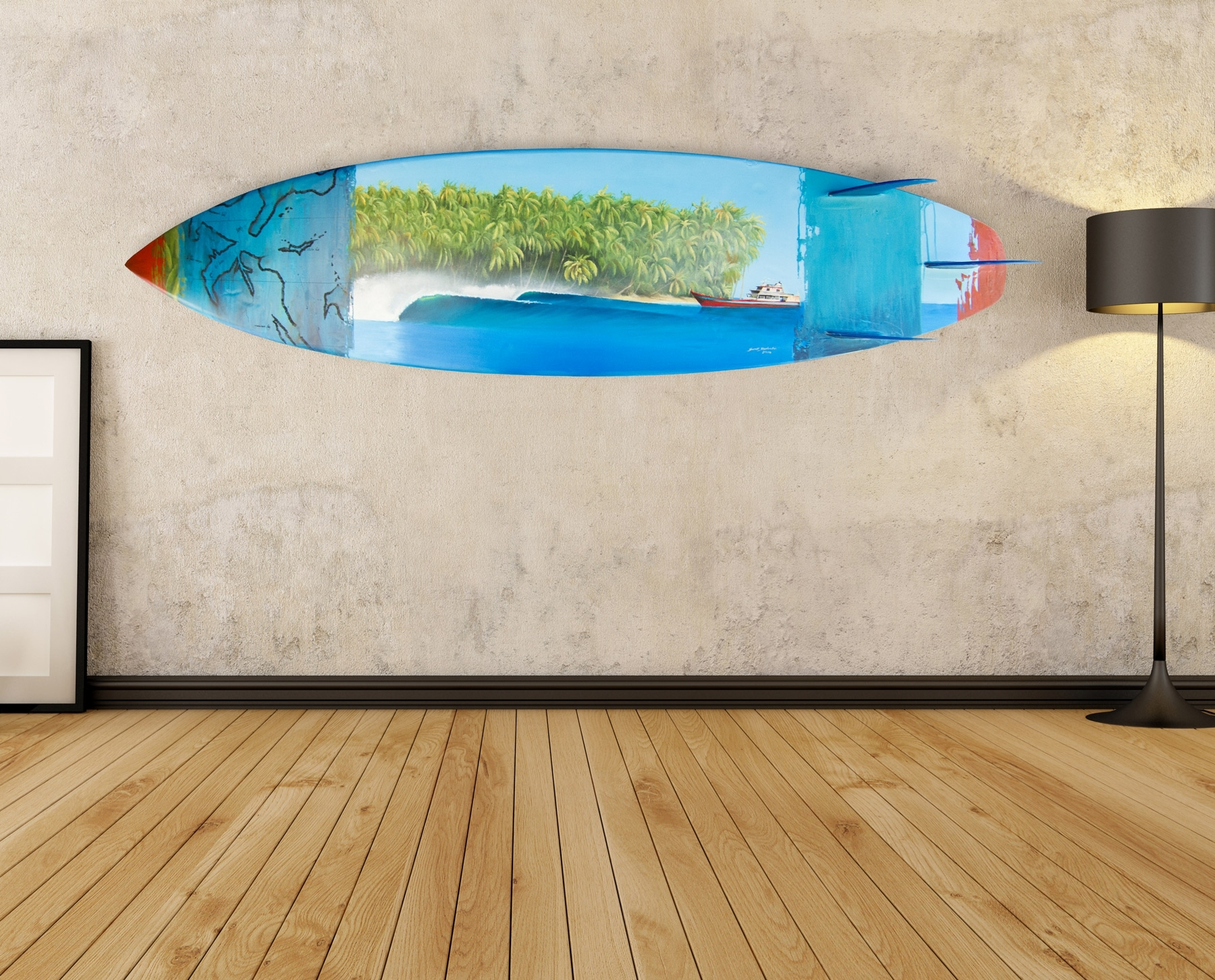 Popular Photo of Surfboard Wall Art