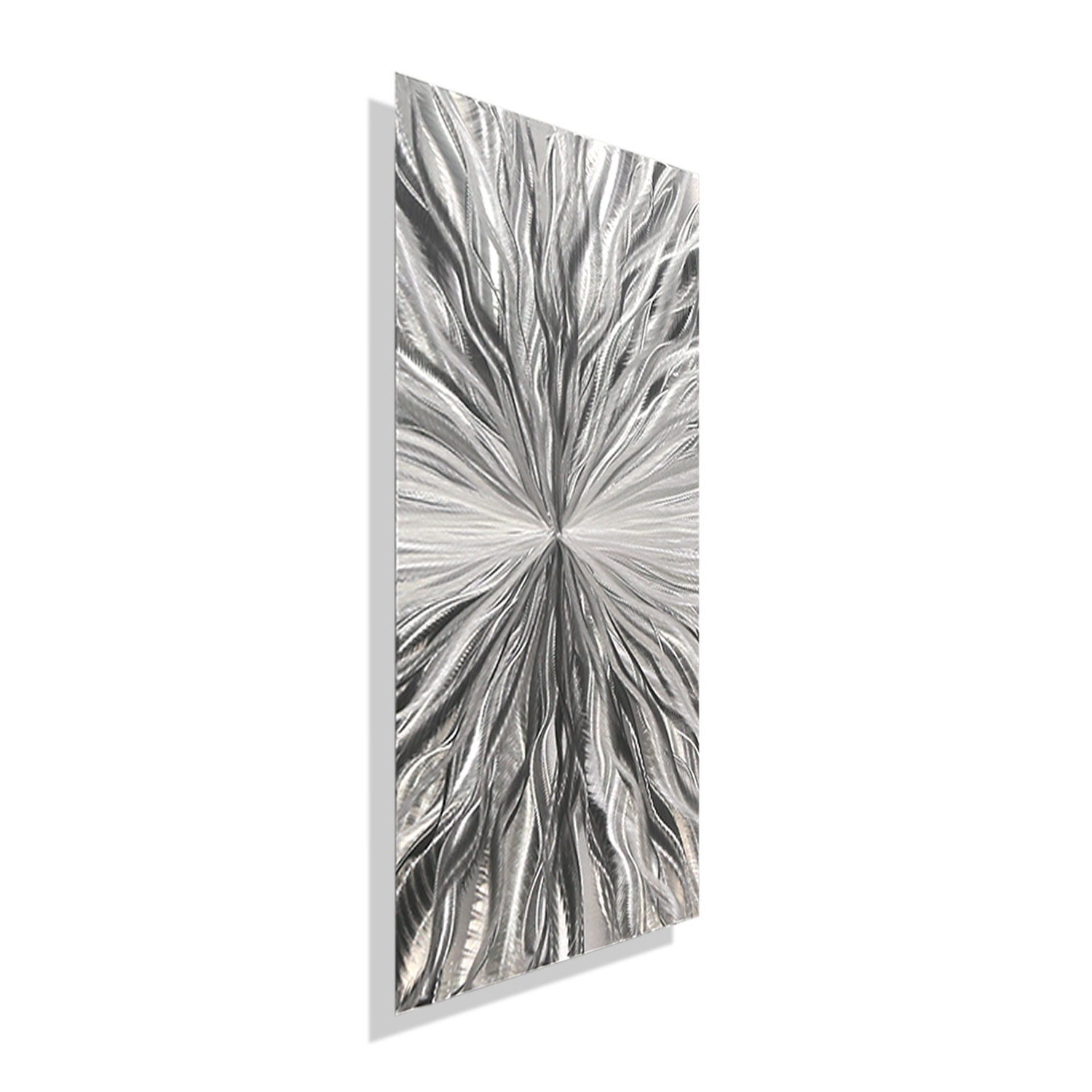 Vitality Solo – Silver Metal Wall Art – Single Panel Wall Décor Within Cheap Metal Wall Art (View 19 of 20)