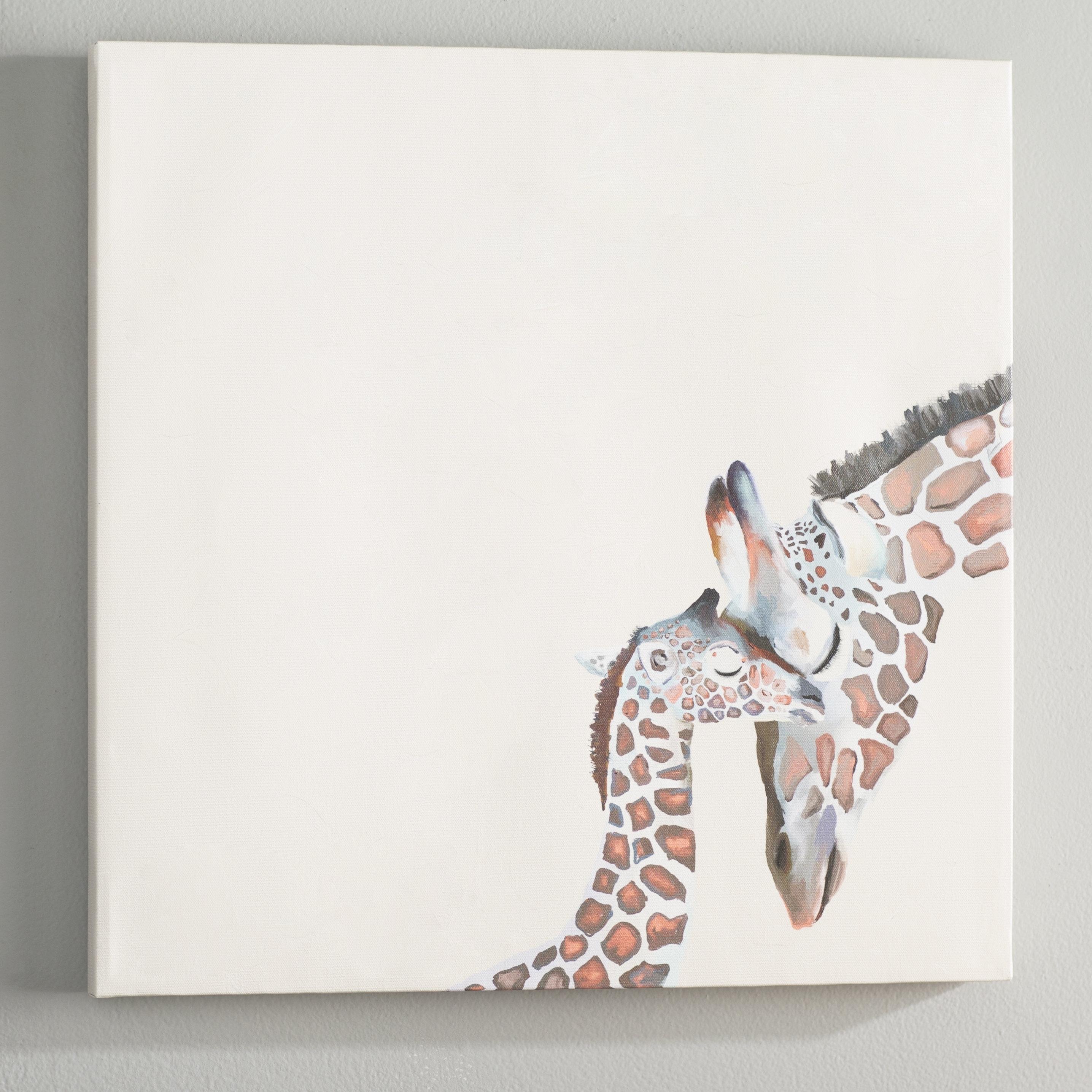 Viv + Rae Kris You And Me Giraffe Canvas Wall Art | Wayfair intended for Giraffe Canvas Wall Art (Image 20 of 20)