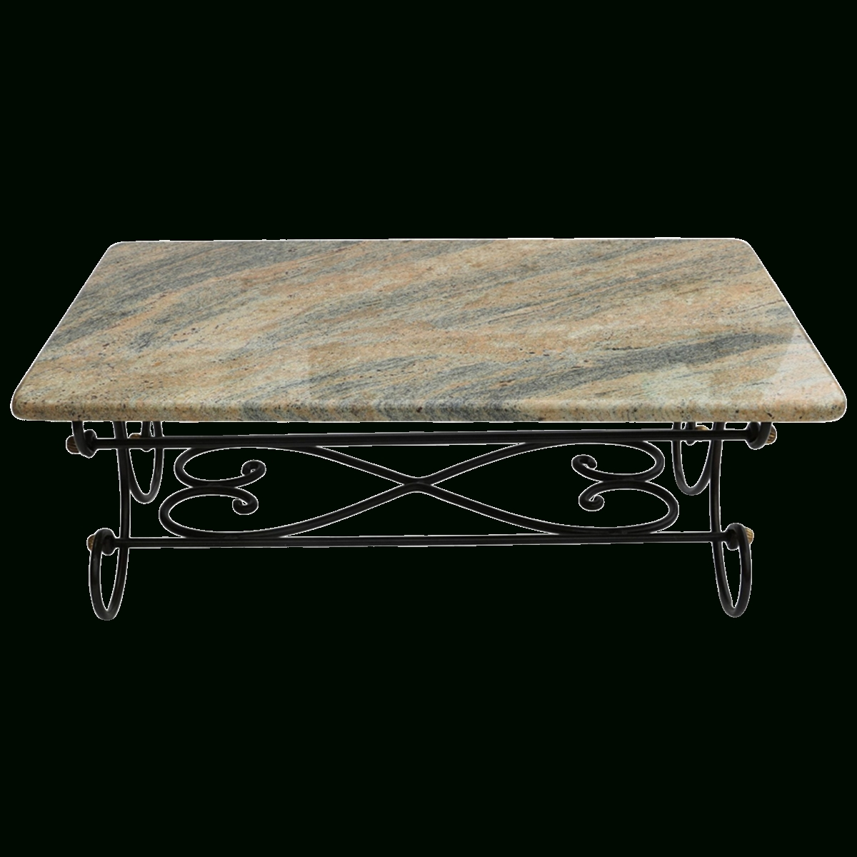 Viyet - Designer Furniture - Tables - Vintage Wrought Iron And intended for Element Ivory Rectangular Coffee Tables (Image 29 of 30)
