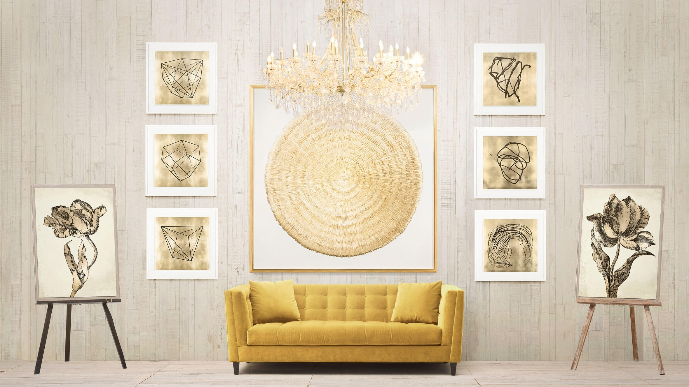 Wall Art Decor Ideas: Chandelier Wonderful Wall Art Gold, Black And Intended For Black And Gold Wall Art (Photo 20 of 20)