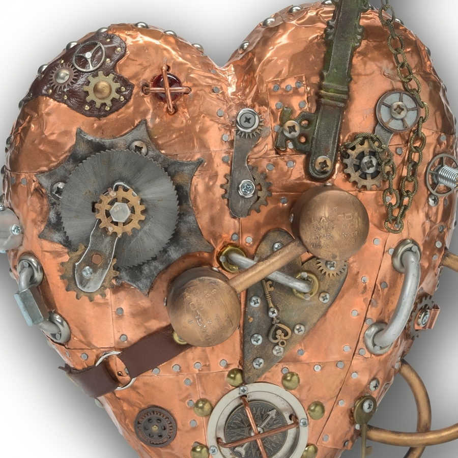 Wall Art Decor Ideas: Heart Unlocked Metal Steampunk Wall, Steampunk inside Steampunk Wall Art (Image 19 of 20)