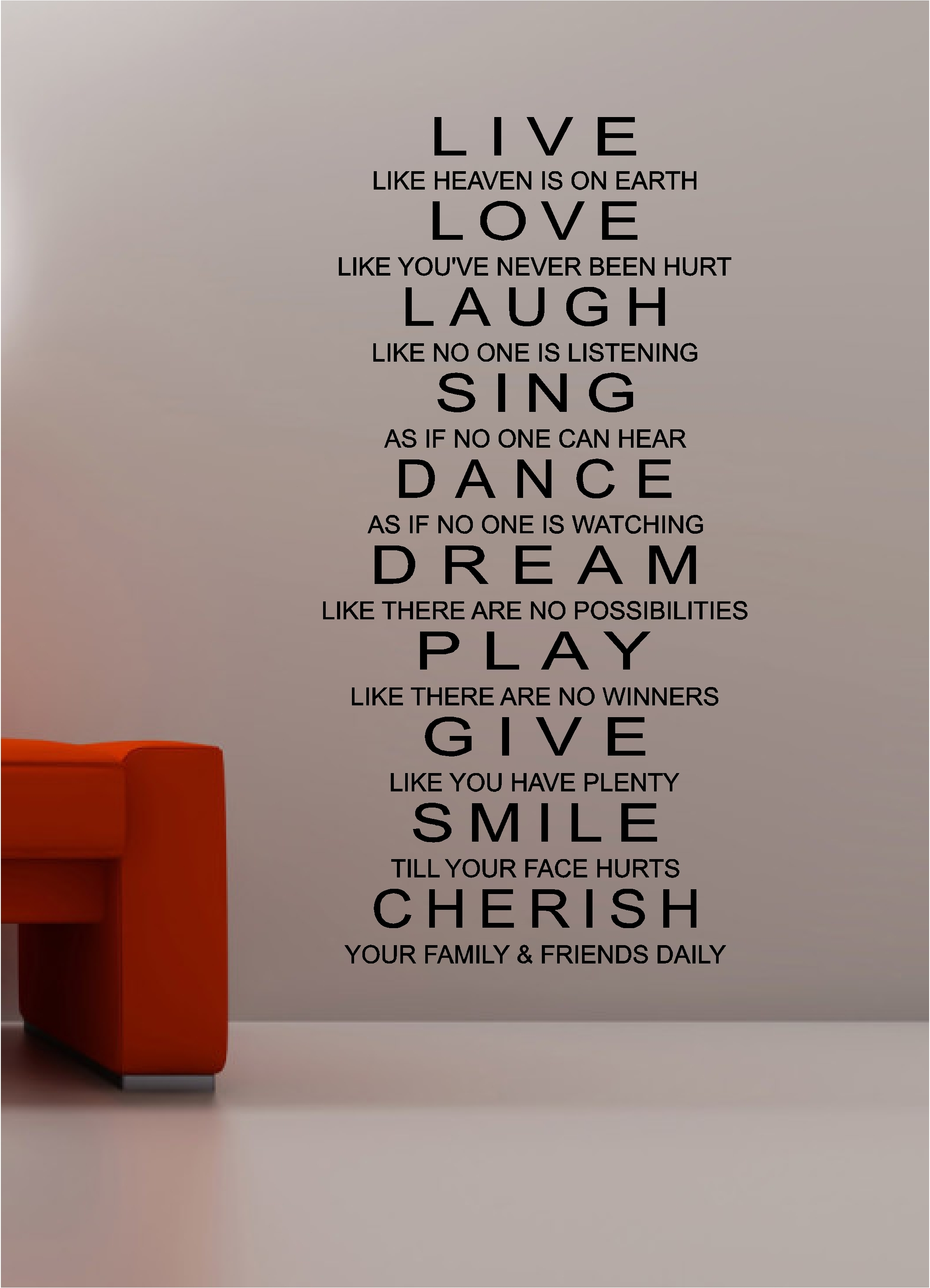 Wall Art Decor Ideas Live Inspirational Quotes Wall Art Love Laugh Inside Inspirational Wall Art (View 18 of 20)