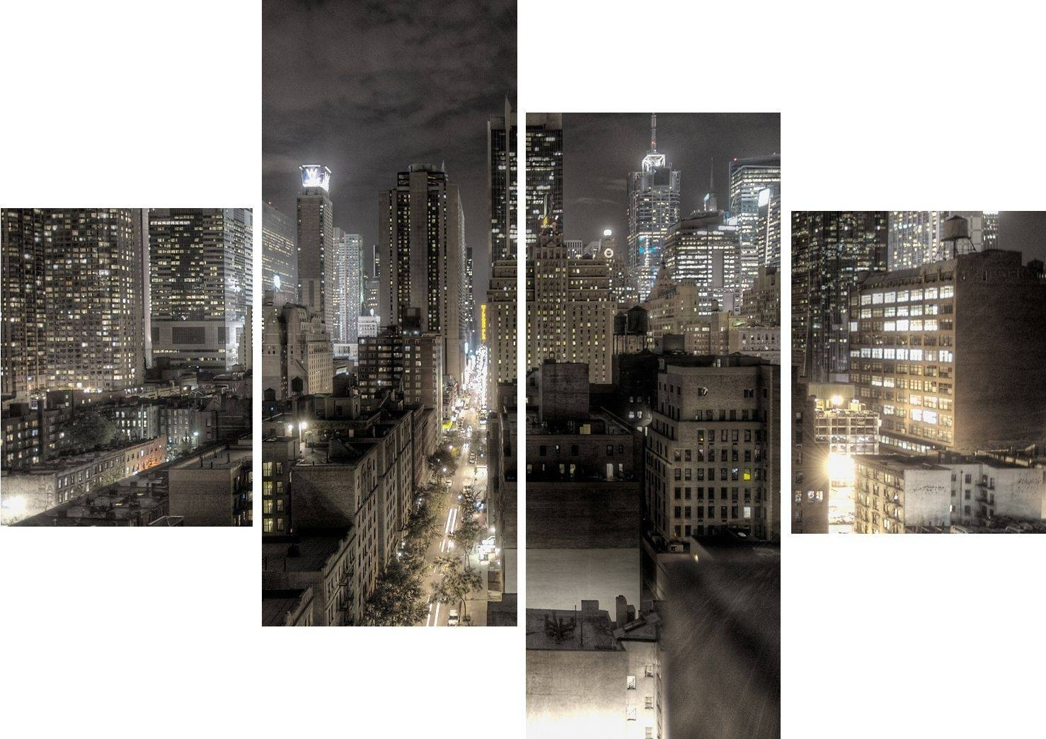 Wall Art Design Nyc Wall Art Rectangle Grey Large Panel Wall In New York Canvas Wall Art (View 11 of 20)