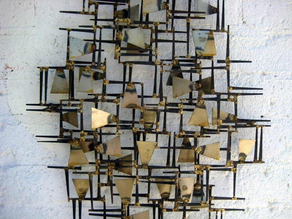 Wall Art Designs Wall Metal Art A Vintage S Hand Wrought With Regard Intended For Geometric Metal Wall Art (View 14 of 20)