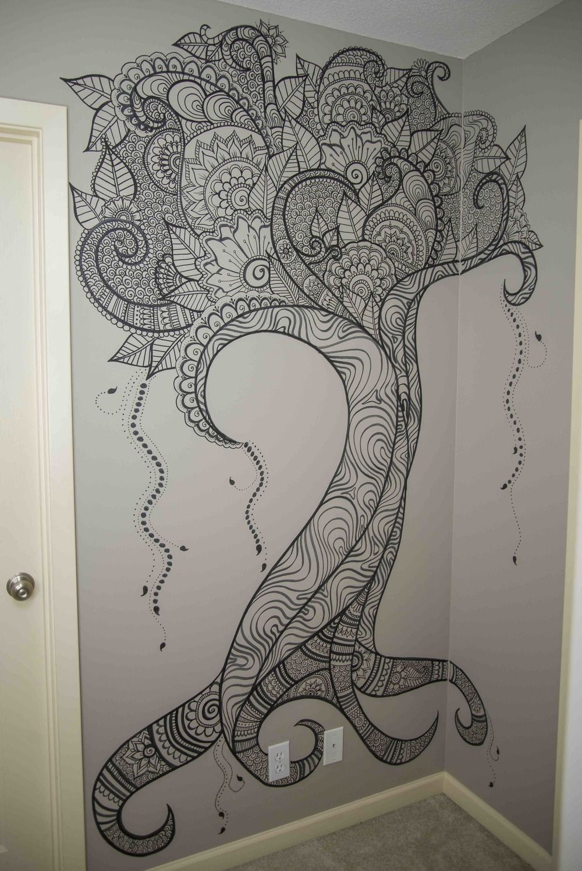 Wall Art — Elsa Rhae Creations | Sharpie Wall Art | Pinterest | Elsa in Henna Wall Art (Image 19 of 20)