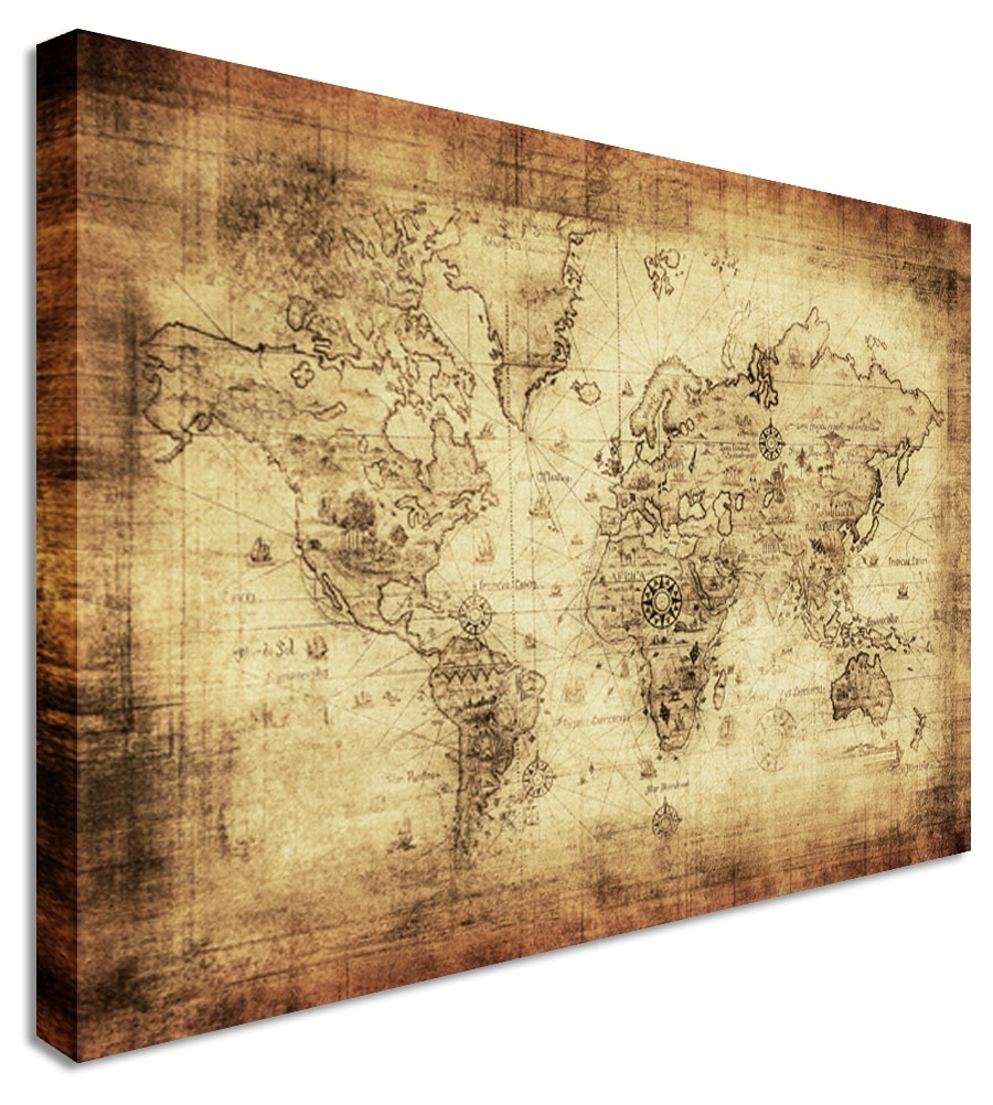 Wall Art Gallery Of Old World Map Decor Exhibition Modern New York Inside Old World Map Wall Art (Photo 6 of 20)