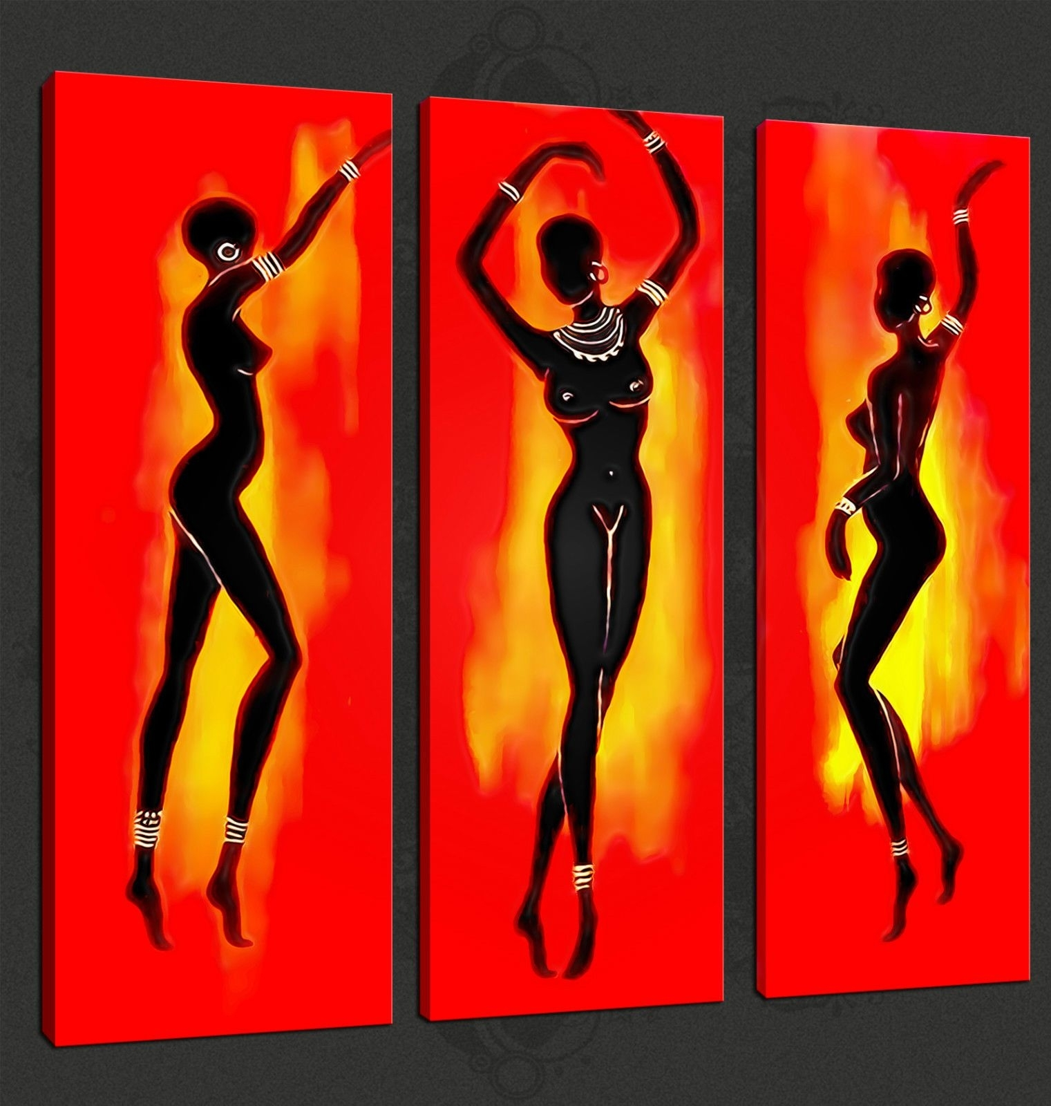 Wall Art Ideas Design : Abstract Dancers African Wall Art, African throughout African Wall Art (Image 17 of 20)