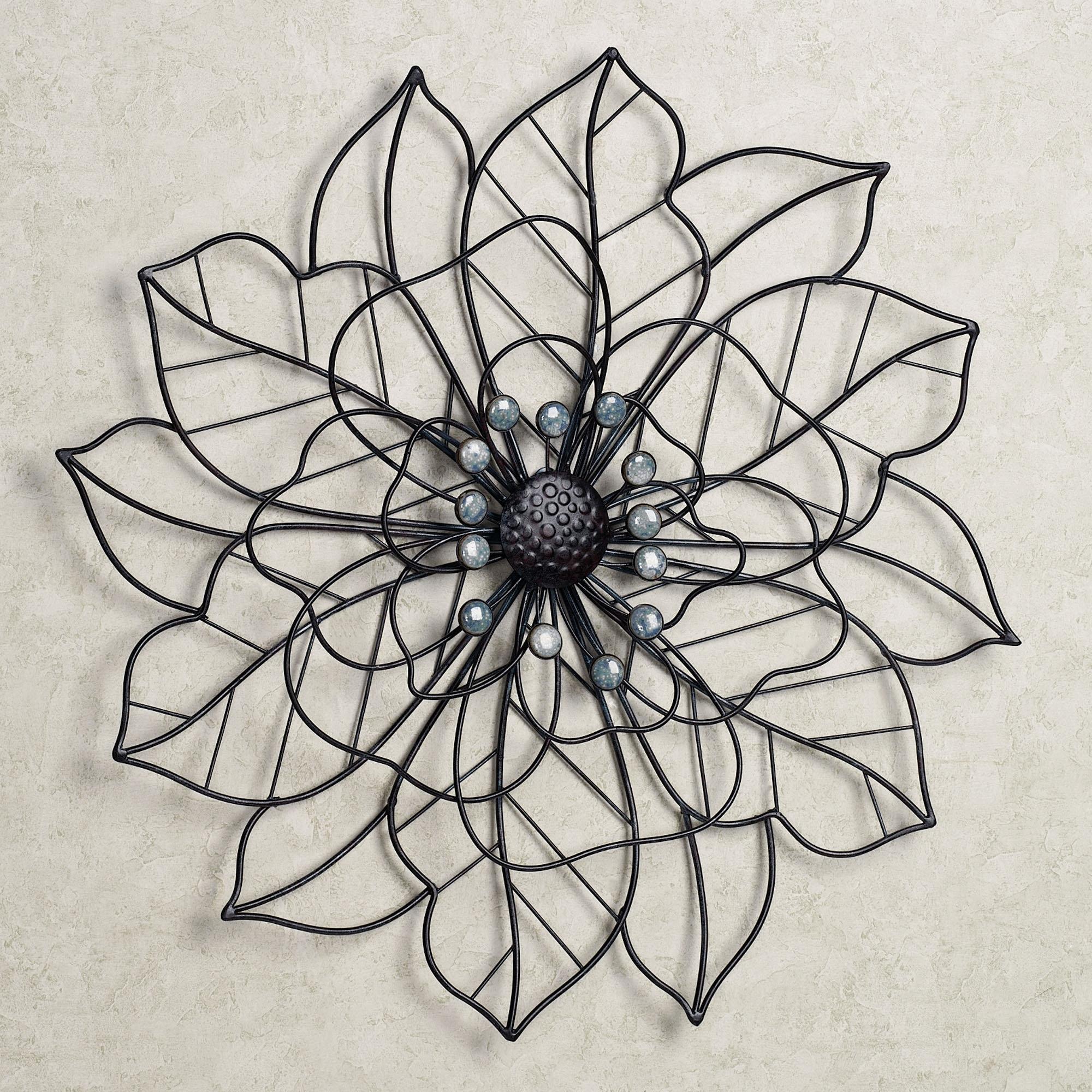 Wall Art Ideas Design : Beauty Bloom Flower Metal Wall Art, Metal With Metal Flowers Wall Art (View 14 of 20)